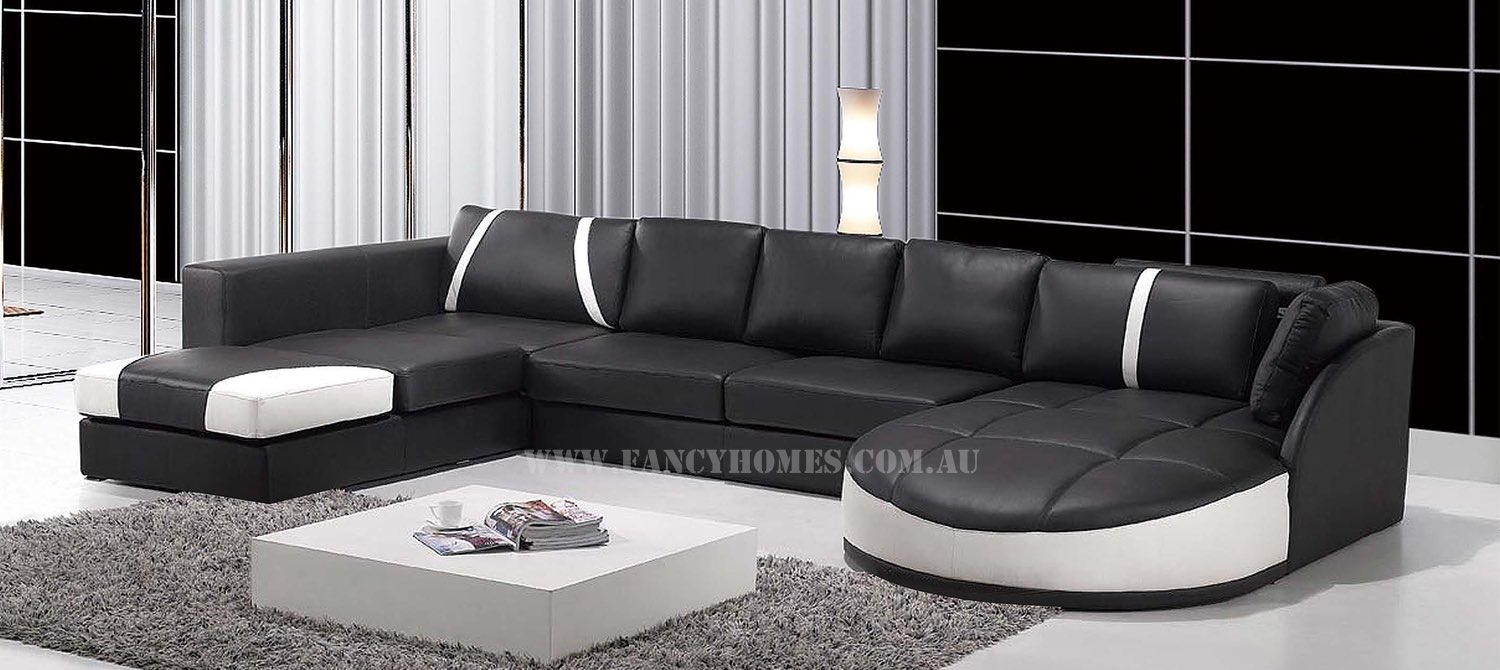 Gina | Fancy Homes Regarding Gina Grey Leather Sofa Chairs (Image 9 of 20)