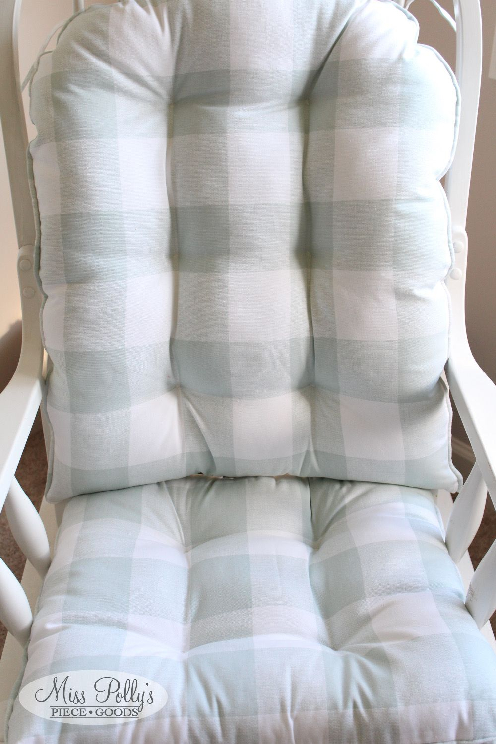Glider Cushions – Rocker Cushions – Chair Cushions – Glider With Regard To Katrina Grey Swivel Glider Chairs (Image 7 of 20)