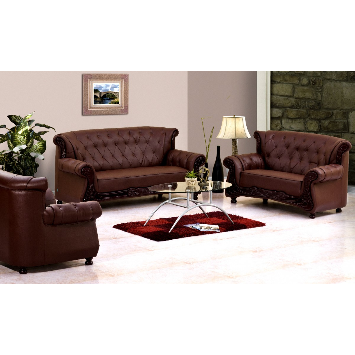 Grace Sofa (3 + 2 + 1 Seater) | Damro Intended For Grace Sofa Chairs (Photo 3 of 20)