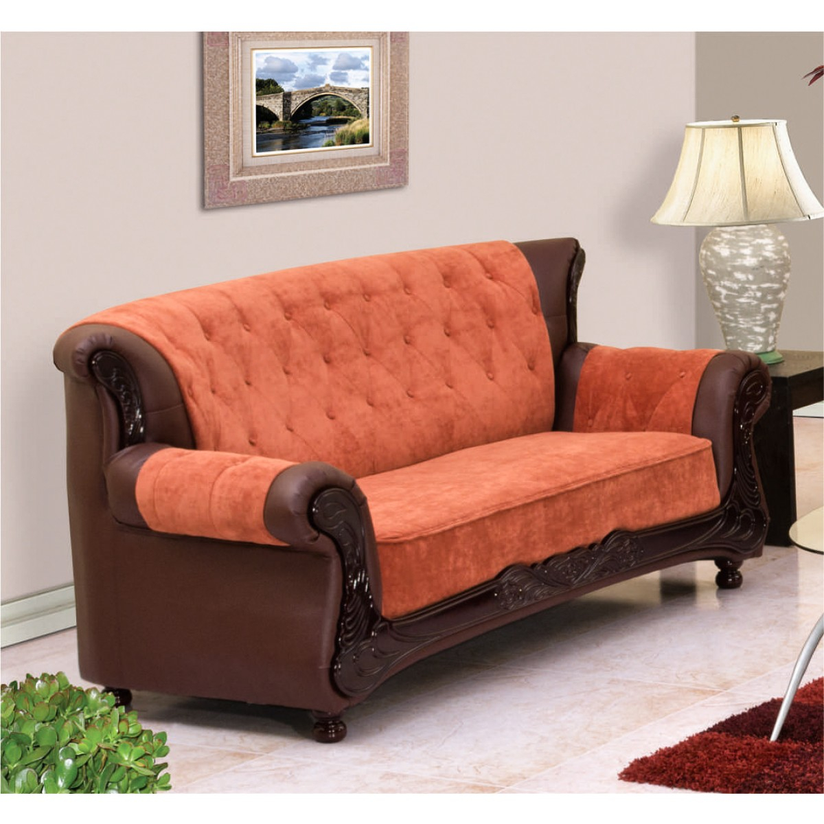 Grace Sofa (3 + 2 + 1 Seater) | Damro Within Grace Sofa Chairs (Image 12 of 20)