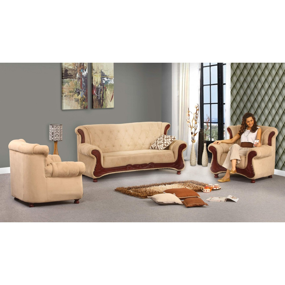 Grace Sofa | Damro Pertaining To Grace Sofa Chairs (Image 13 of 20)