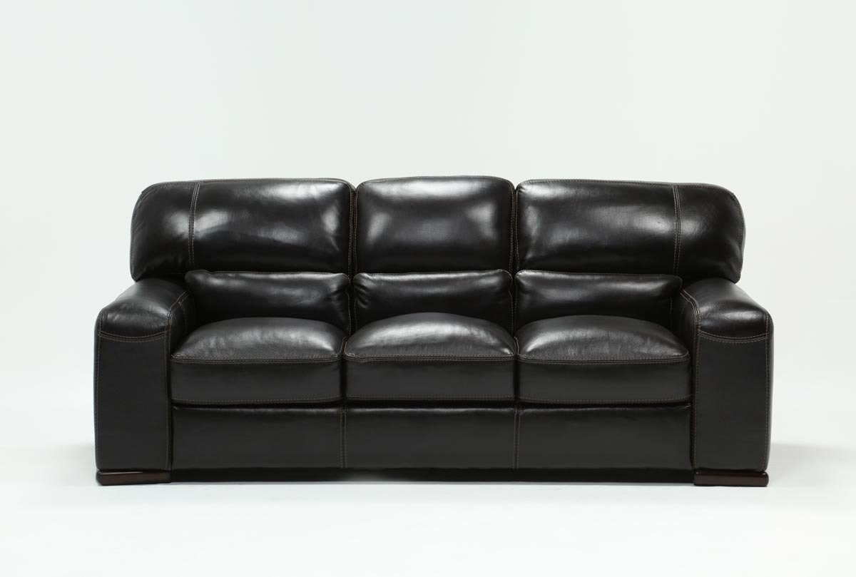 Grandin Leather Sofa | Living Spaces With Cosette Leather Sofa Chairs (View 9 of 20)