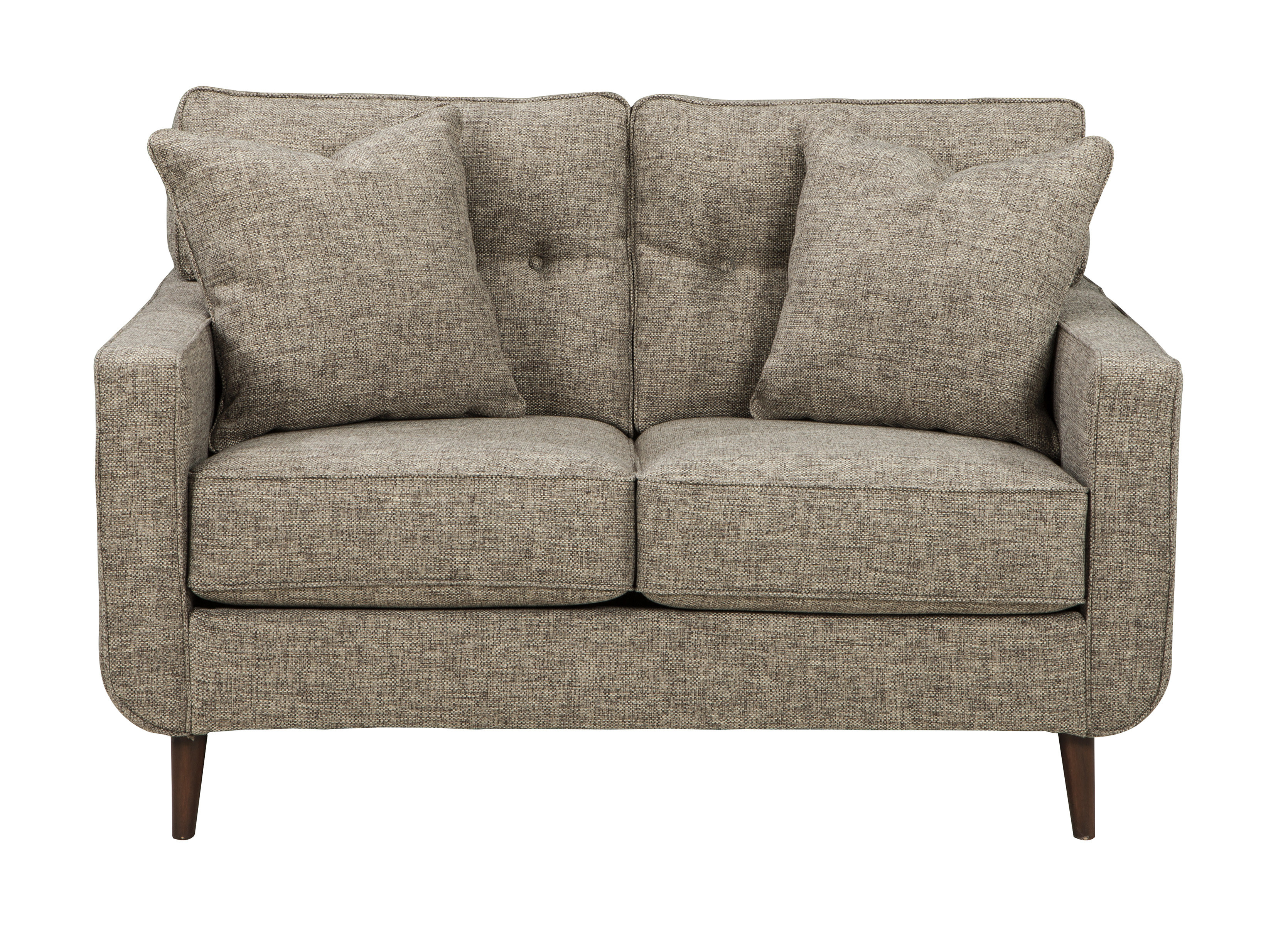 Grandin Loveseat | Allmodern Inside Grandin Leather Sofa Chairs (Image 10 of 20)