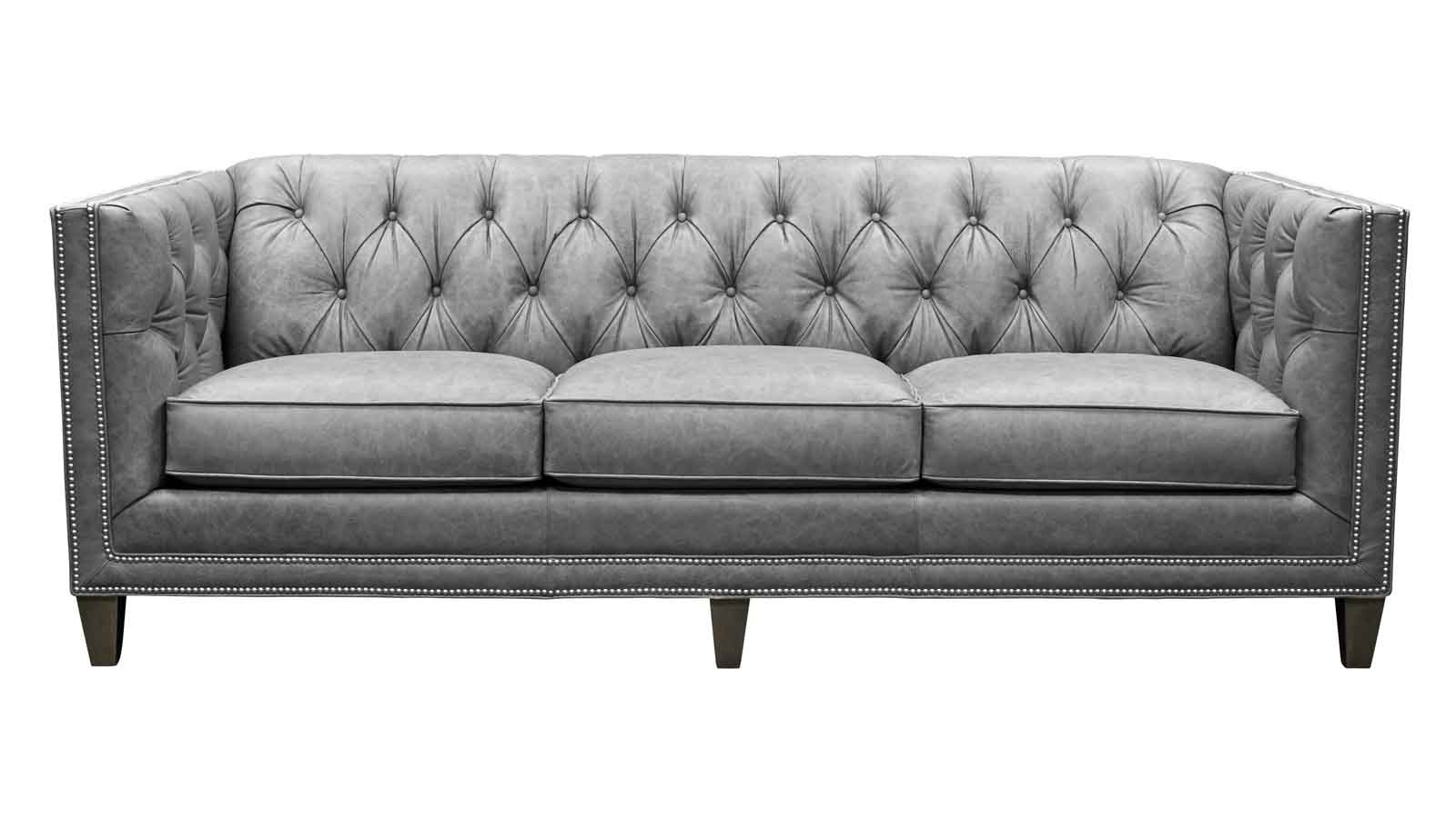 Grey Leather Sofa Restoration Hardware Sleeper Sofas For Sale Online With Caressa Leather Dove Grey Sofa Chairs (Image 13 of 20)