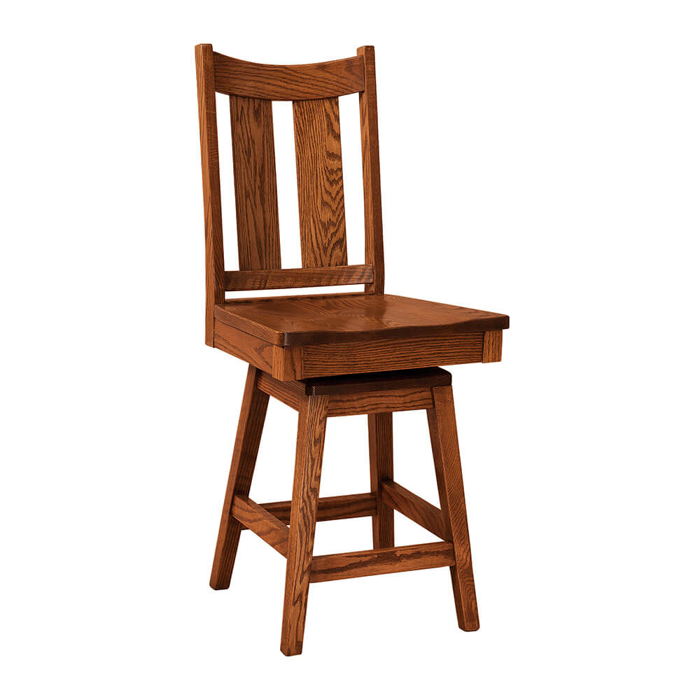 Hand Crafted F&n Woodworking Aspen Chair | Circle Y Amish Furniture With Aspen Swivel Chairs (Image 12 of 20)