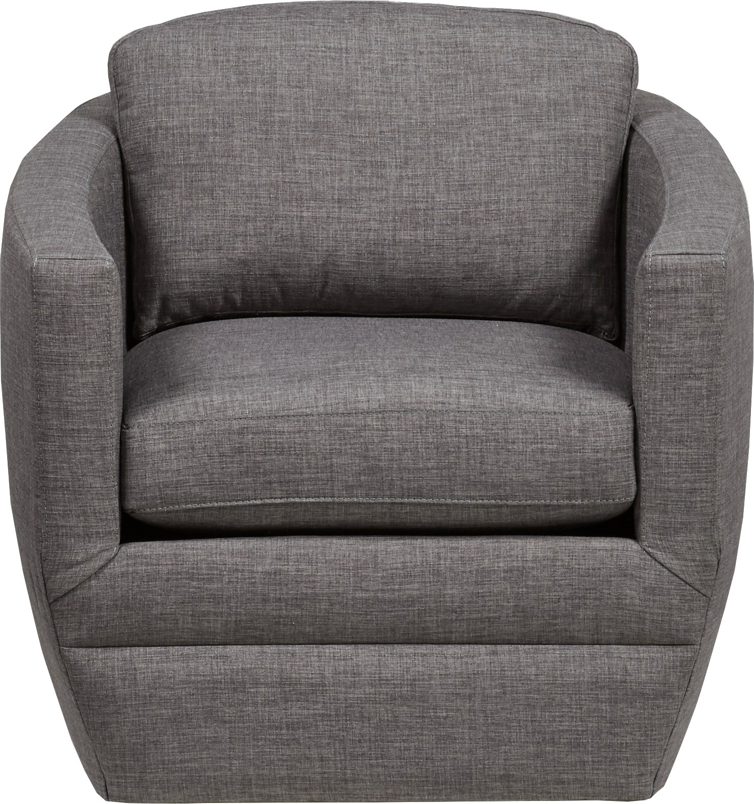 Harbour City San Marino Dark Gray Swivel Chair – Chairs (Gray) In Dark Grey Swivel Chairs (Image 8 of 20)