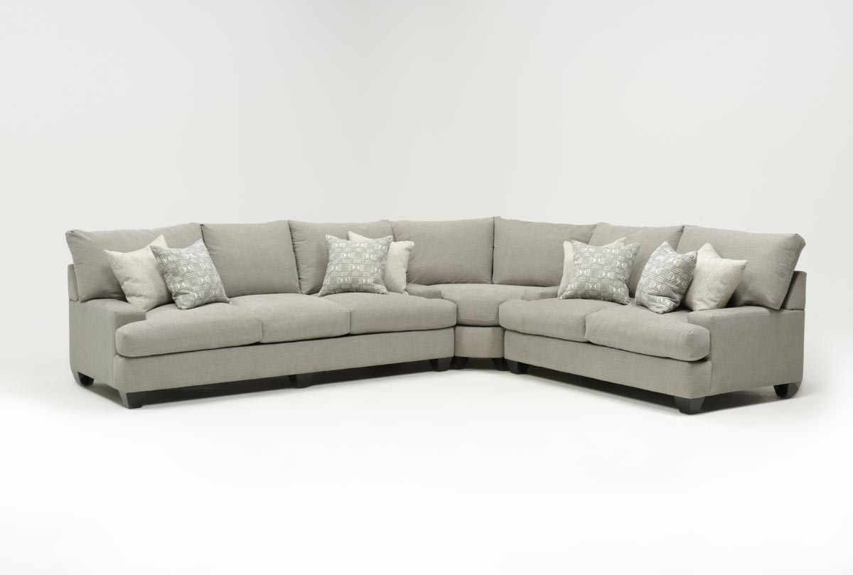 Harper Down 3 Piece Sectional | Living Spaces In Harper Down Oversized Sofa Chairs (Image 2 of 20)