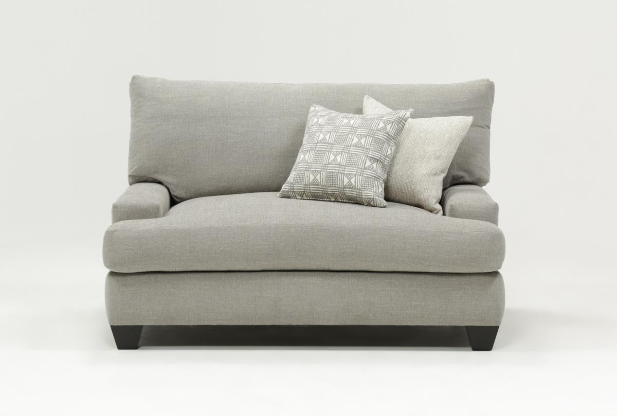 Harper Down Oversized Chair | Living Spaces For Cohen Foam Oversized Sofa Chairs (Photo 3 of 20)