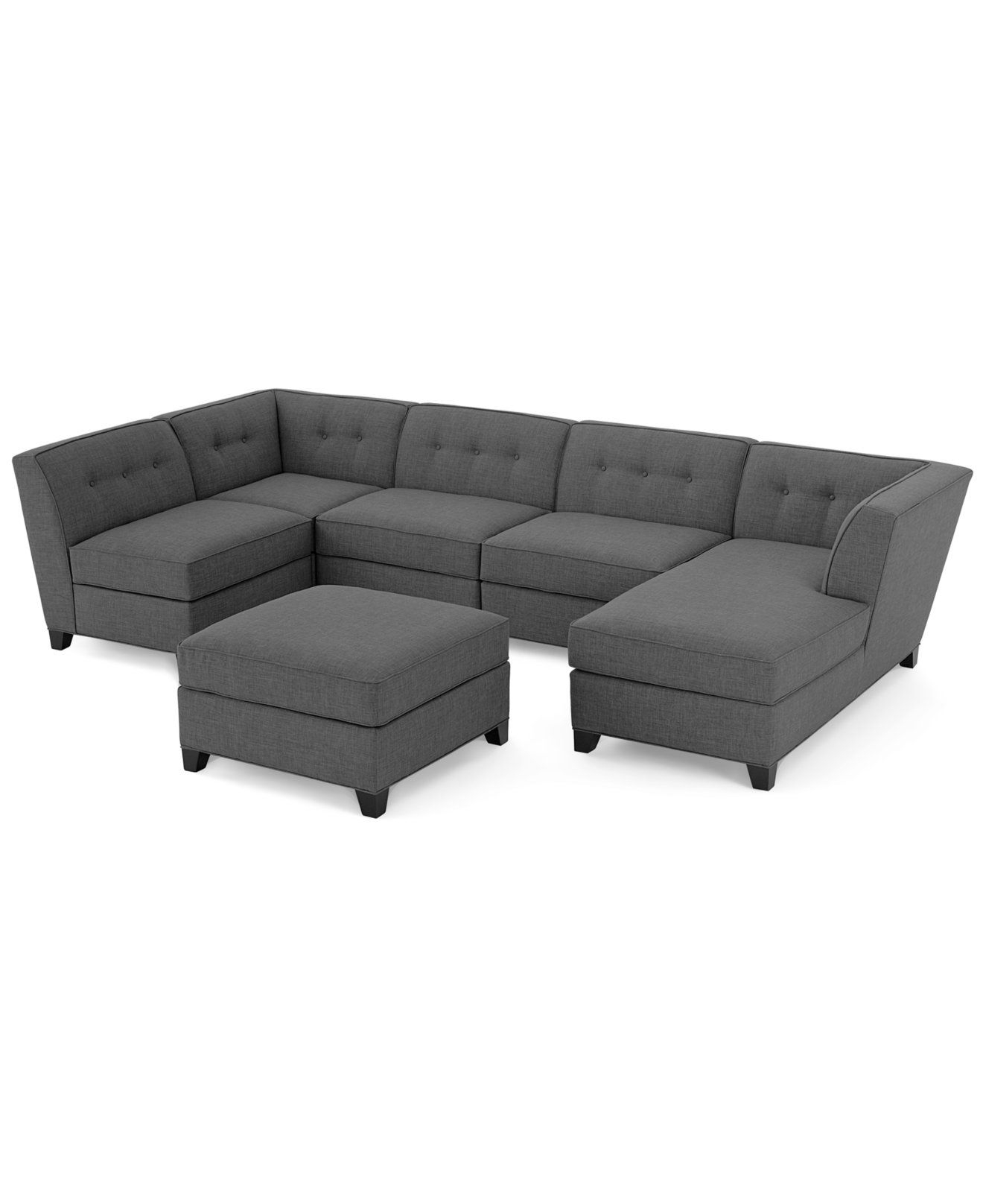 Harper Fabric Modular Sectional Sofa, 6 Piece (Square Corner Unit With Harper Down Oversized Sofa Chairs (Image 7 of 20)