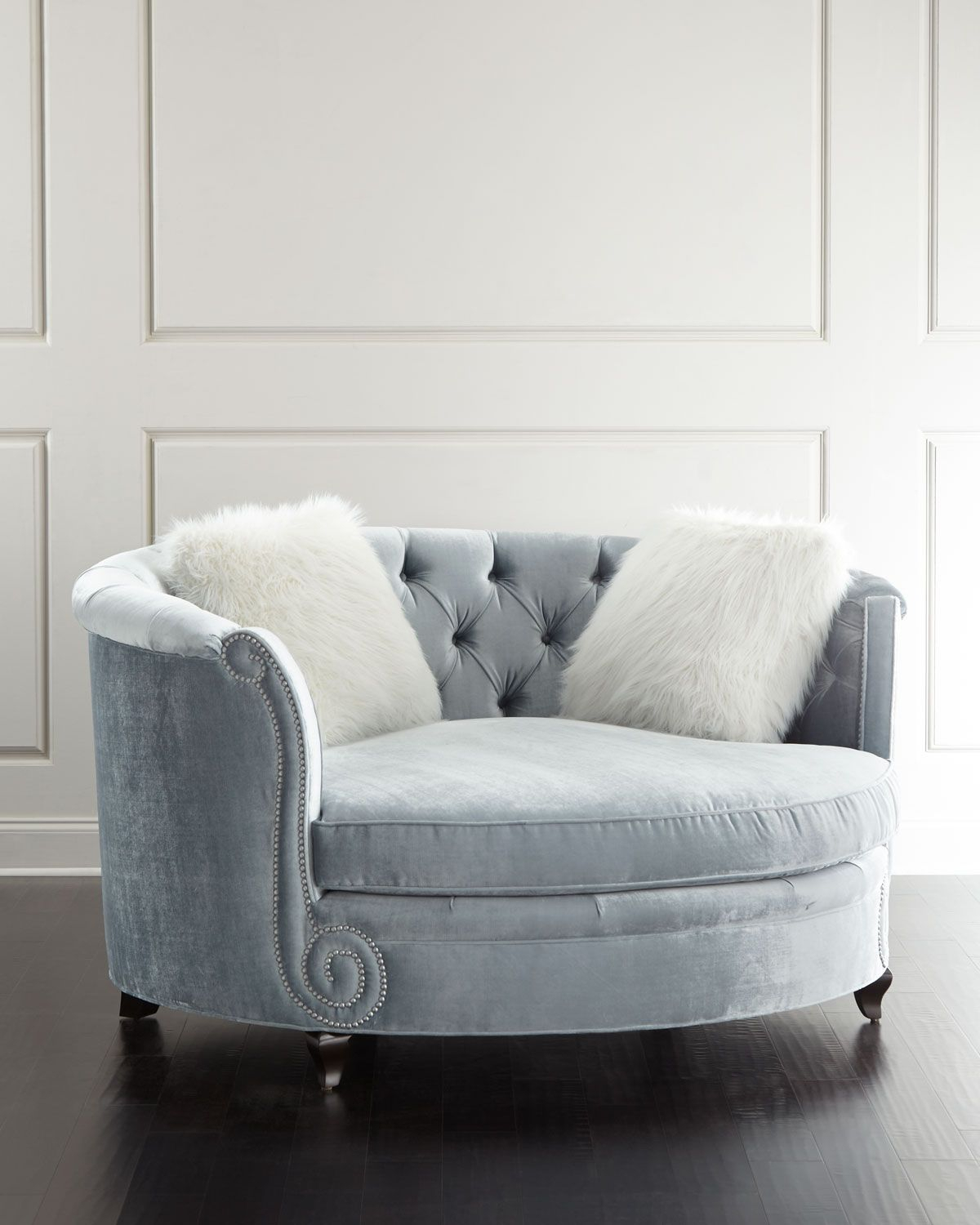 Harper Tufted Cuddle Chair | Hues Of Blues | Cuddle Chair, Furniture For Harper Down Oversized Sofa Chairs (Photo 5 of 20)