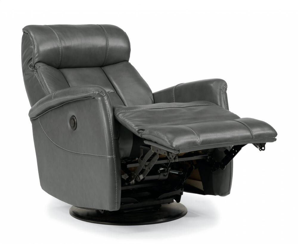 Hart Leather King Power Swivel Gliding Recliner | 139153Pk | Leather For Hercules Chocolate Swivel Glider Recliners (Photo 8 of 20)