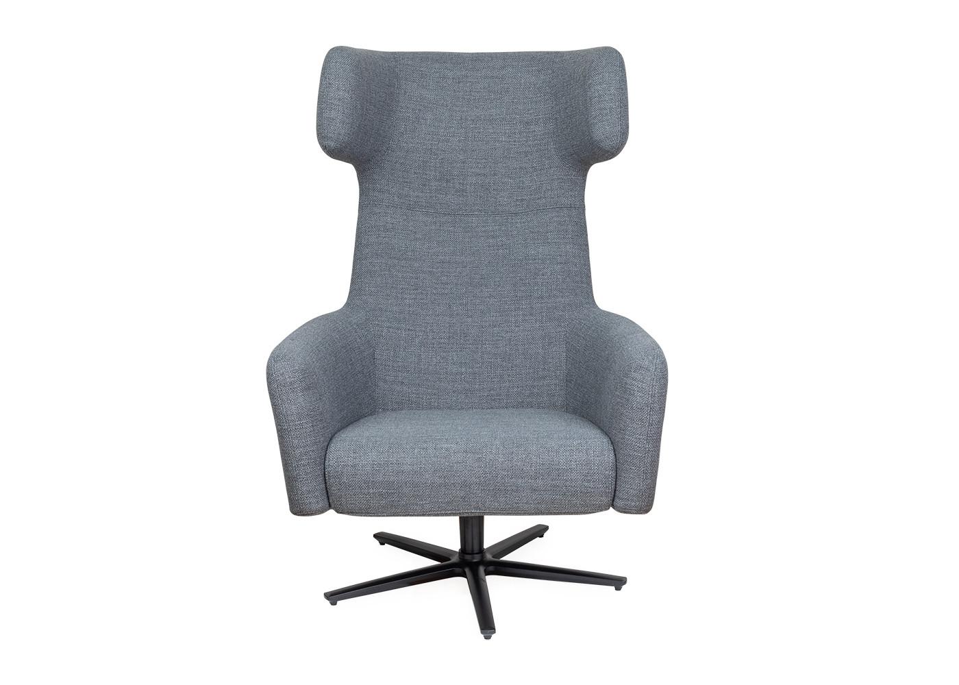 Havana Wing Chair Swivel Base Tundra Dark Grey Pertaining To Dark Grey Swivel Chairs (Image 9 of 20)
