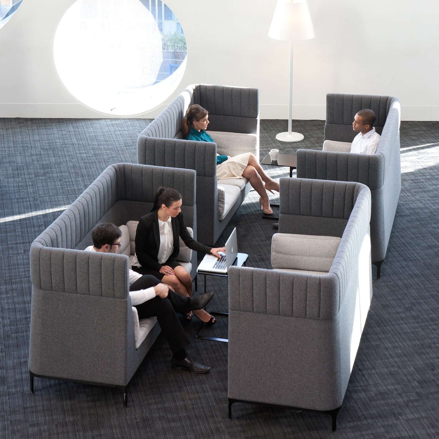 Haven High Back Sofa | Haven Acoustic Soft Seating | Apres Furniture Regarding Haven Sofa Chairs (Image 8 of 20)