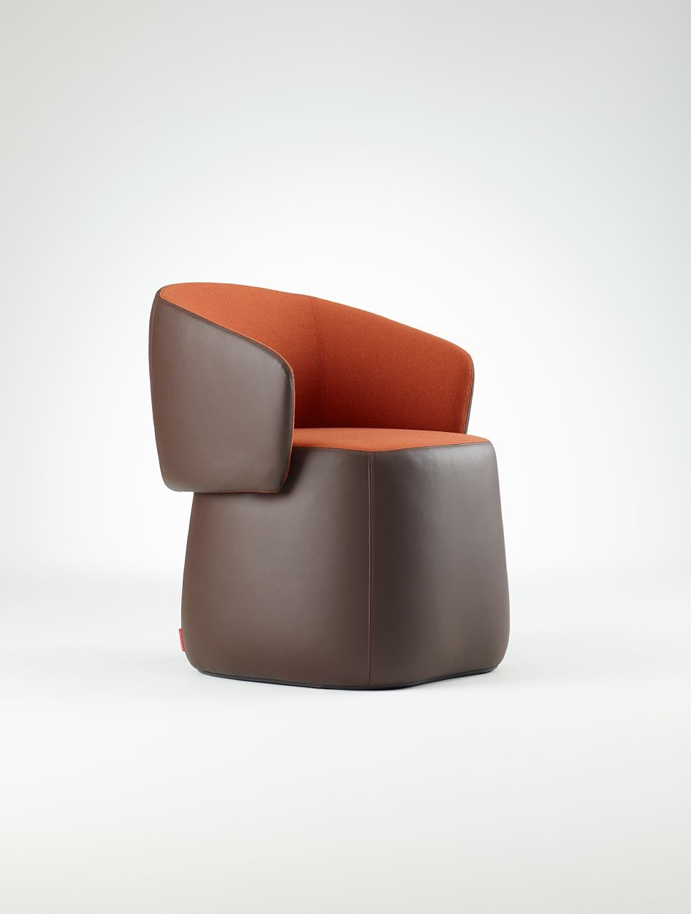 Haworth Openest Collection Chick Pouf With Back – Modern Planet Inside Chadwick Tomato Swivel Accent Chairs (View 2 of 20)