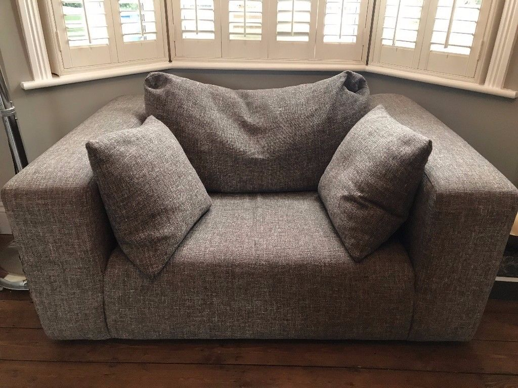 Heals Opera Loveseat Small Sofa Was East Dulwich Velvet Sleeper Regarding Lucy Dark Grey Sofa Chairs (View 15 of 20)