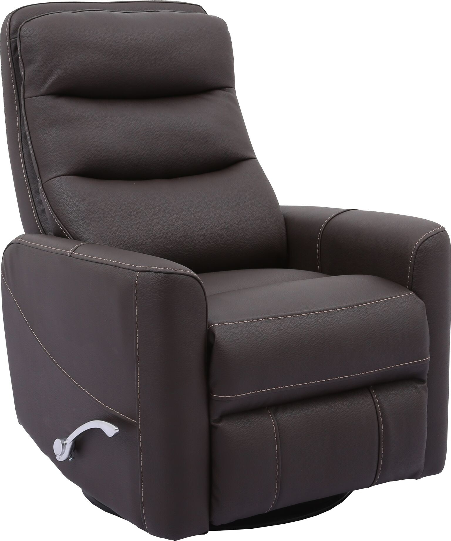 Hercules  Chocolate  Swivel Glider Recliner With Articulating Headrest For Hercules Oyster Swivel Glider Recliners (Image 6 of 20)