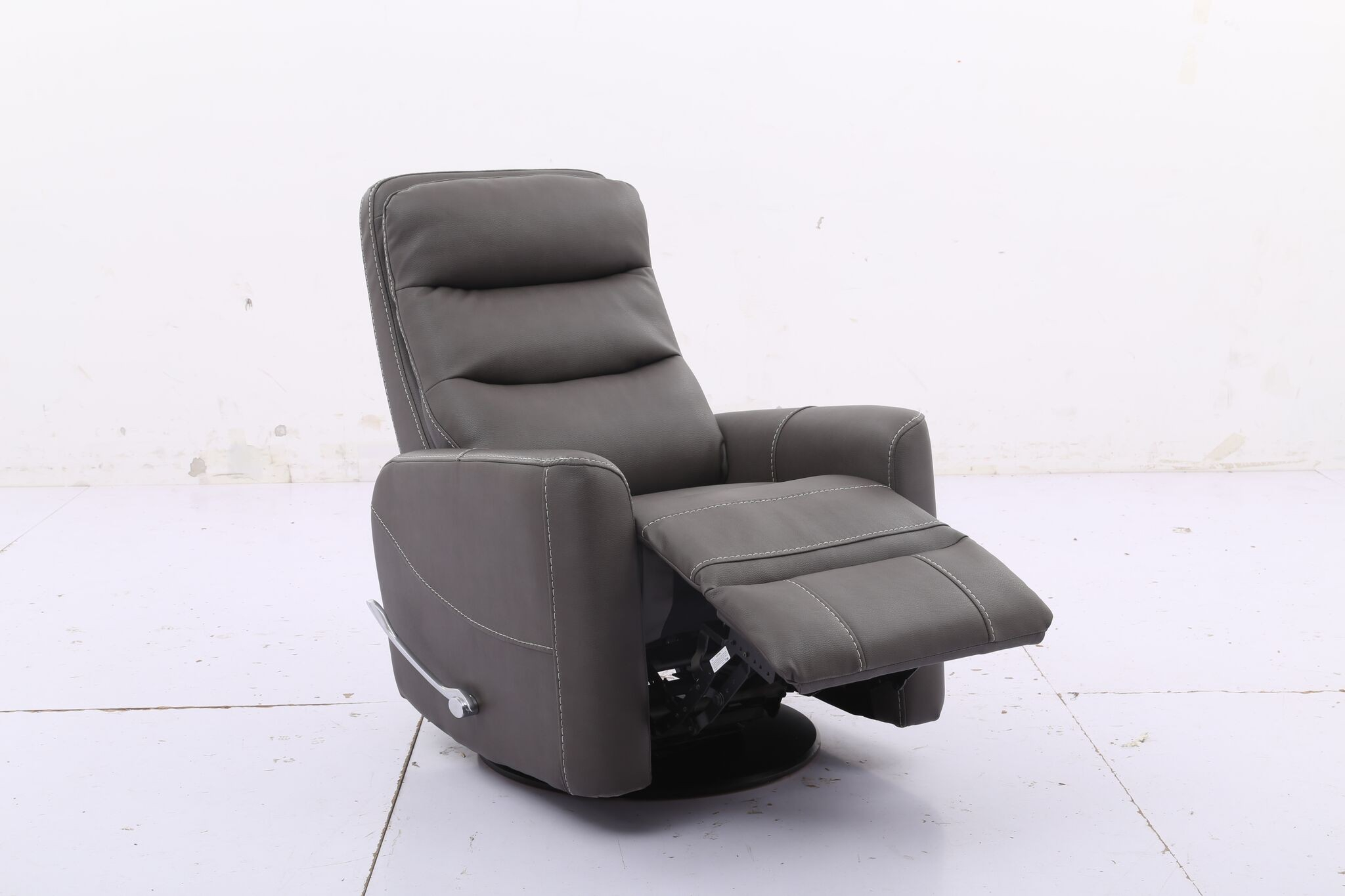Hercules  Haze  Swivel Glider Recliner With Articulating Headrest With Regard To Hercules Oyster Swivel Glider Recliners (Image 8 of 20)