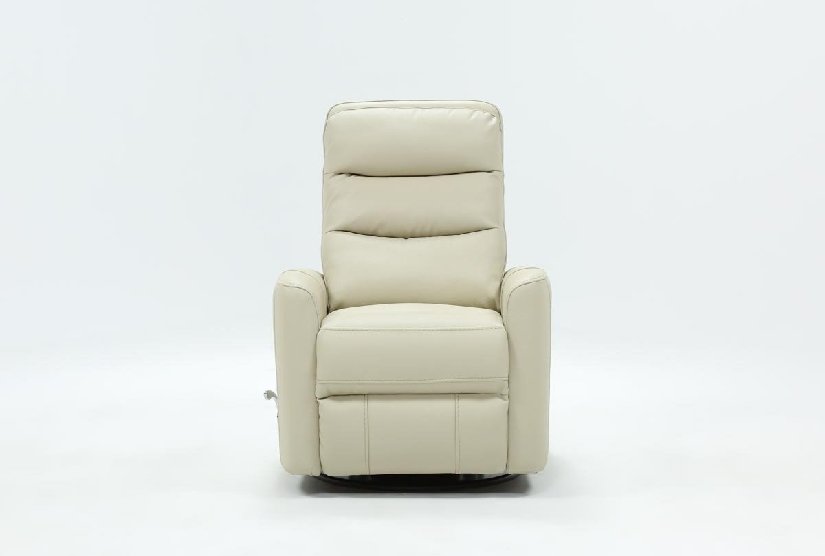 Hercules Oyster Swivel Glider Recliner | Living Spaces With Regard To Hercules Chocolate Swivel Glider Recliners (View 7 of 20)