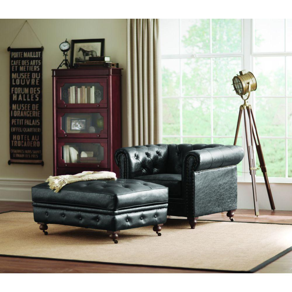 Home Decorators Collection Gordon Grey Velvet Arm Chair Black Accent In Gordon Arm Sofa Chairs (Image 12 of 20)