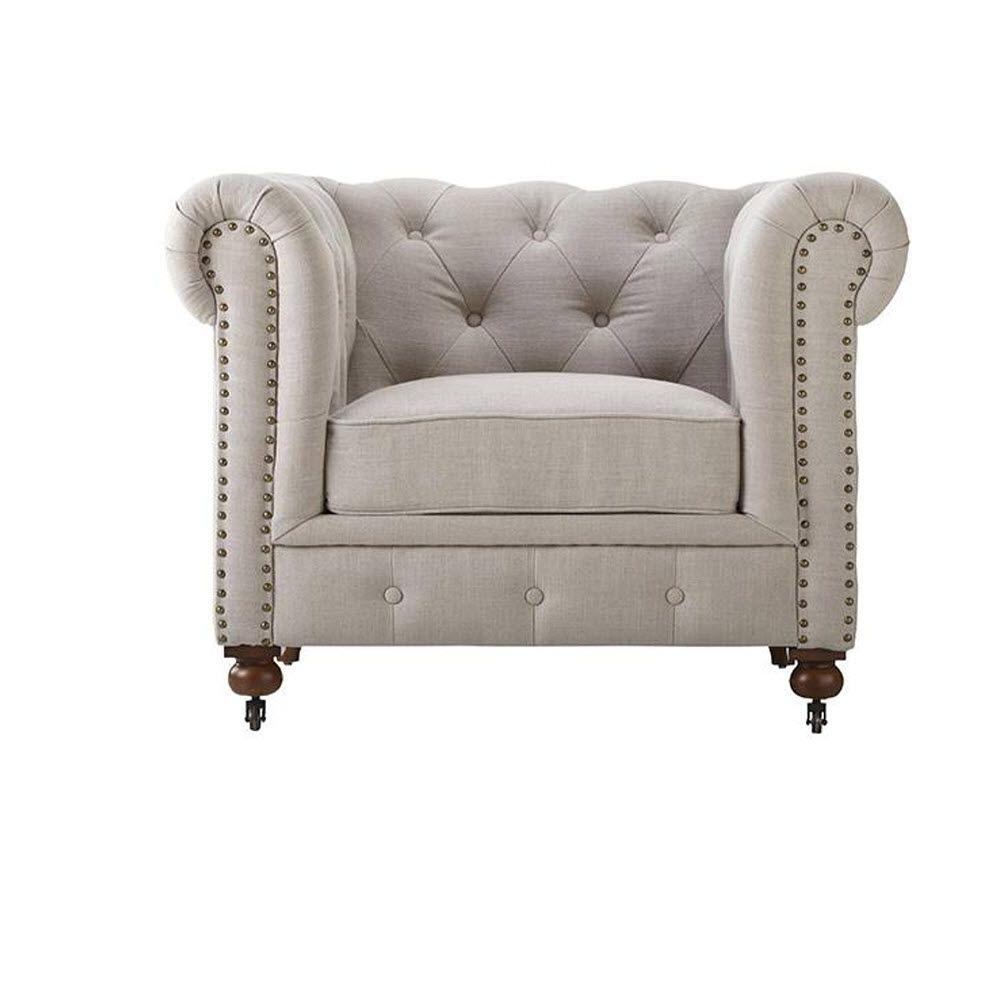 Home Decorators Collection Gordon Natural Linen Arm Chair 0849600400 Inside Gordon Arm Sofa Chairs (Image 14 of 20)