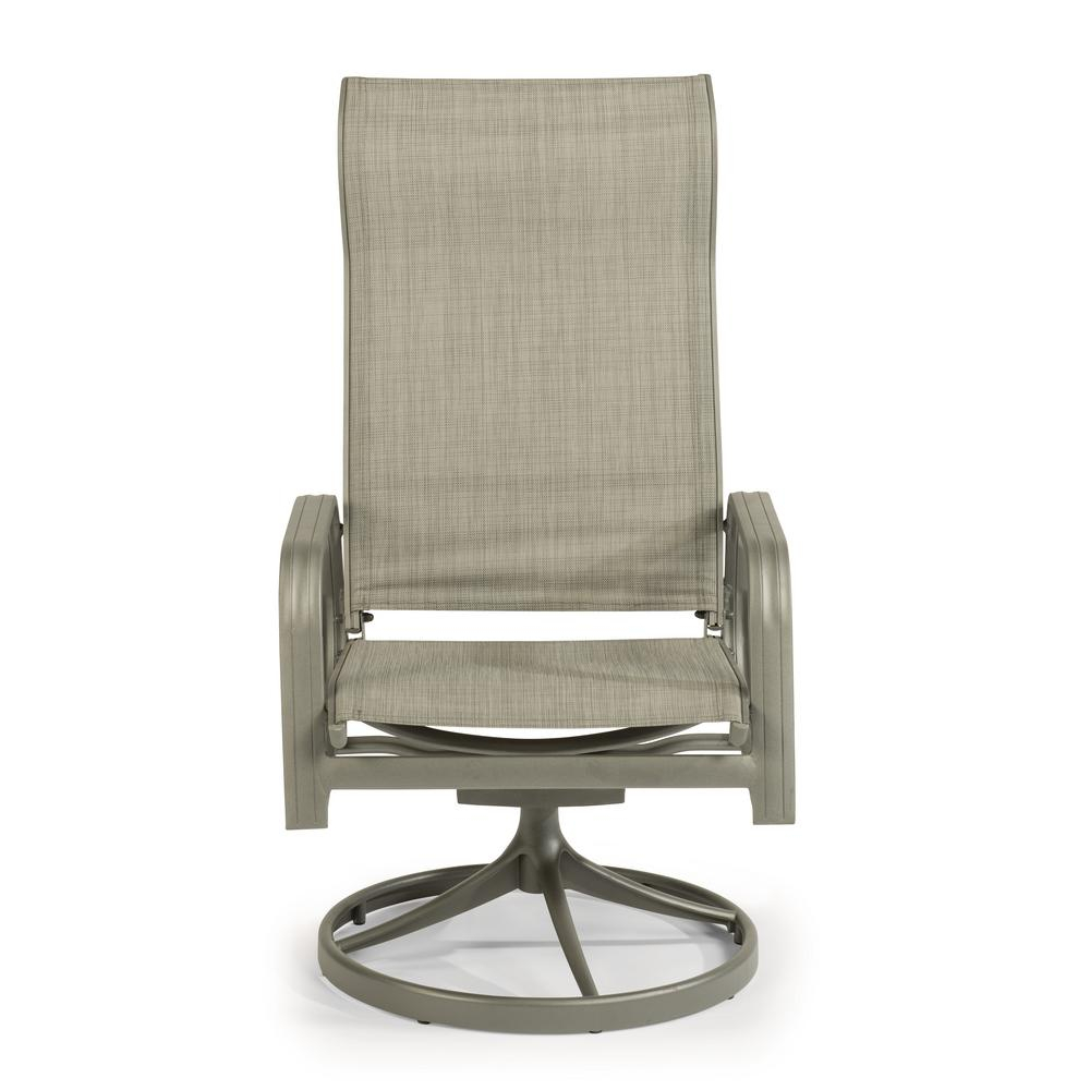 Home Styles Daytona Charcoal Gray Swivel Aluminum Outdoor Dining Throughout Charcoal Swivel Chairs (Image 12 of 20)