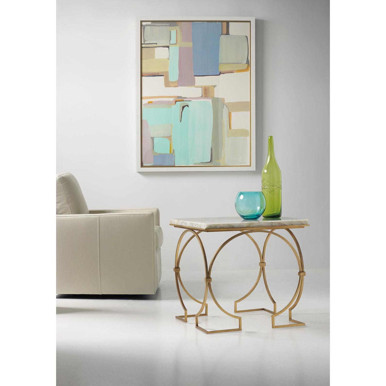 Hooker Furniture Melange Franz End Table 638 50343 Wh | Bellacor Regarding Allie Jade Sofa Chairs (Image 12 of 20)