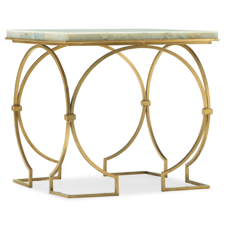 Hooker Furniture Melange Franz End Table 638 50343 Wh | Bellacor Regarding Allie Jade Sofa Chairs (Image 11 of 20)