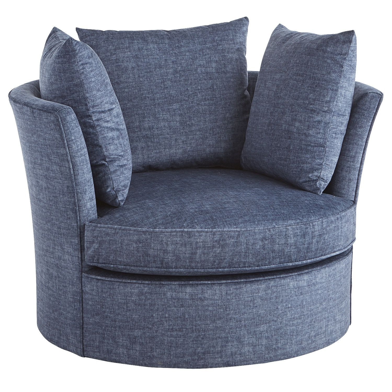 Ike Navy Blue Oversized Swivel Chair | Products | Pinterest | Chair Inside Harbor Grey Swivel Accent Chairs (Image 13 of 20)