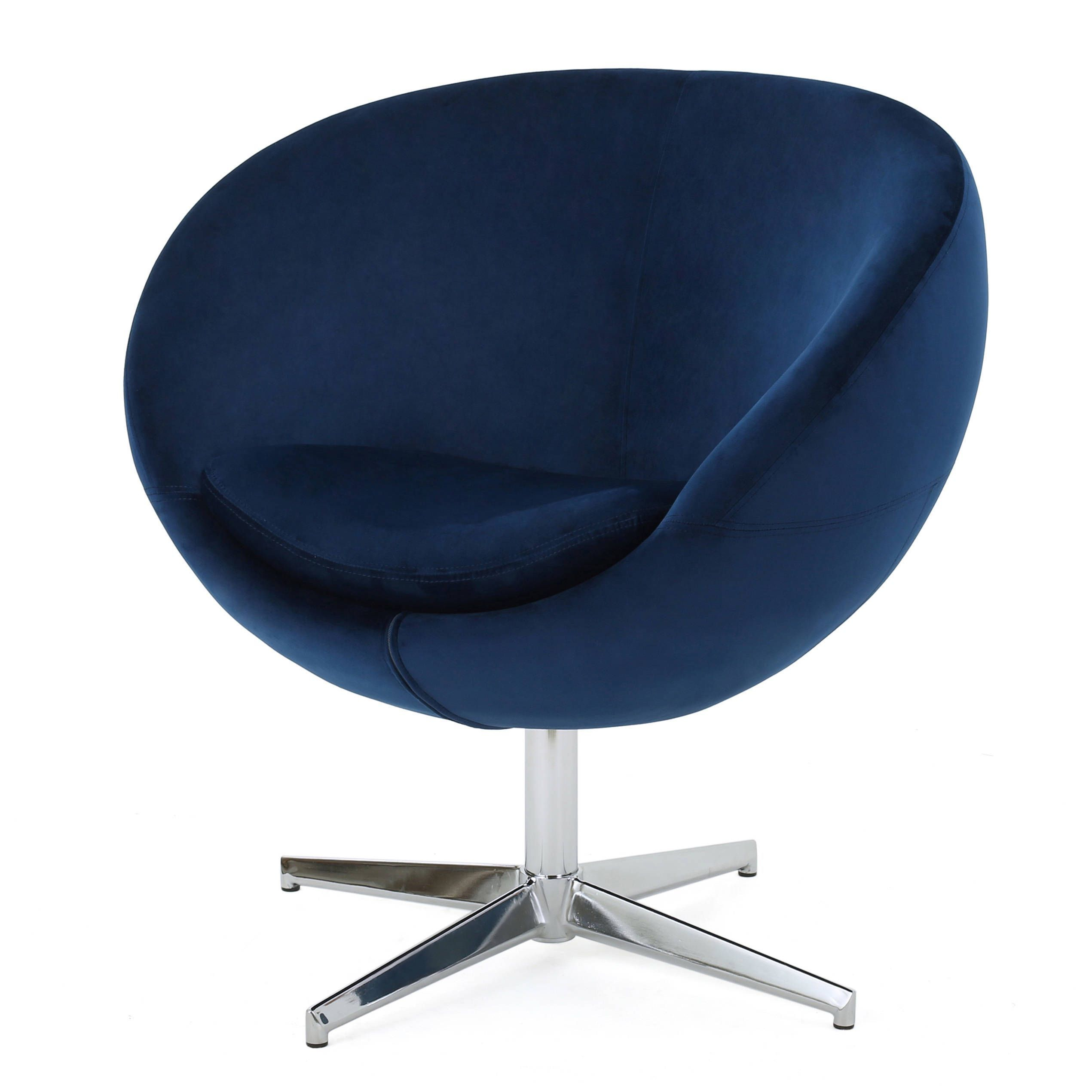Isla Velvet Fabric Roundback Modern Chairchristopher Knight Home Throughout Chill Swivel Chairs With Metal Base (Photo 2 of 20)