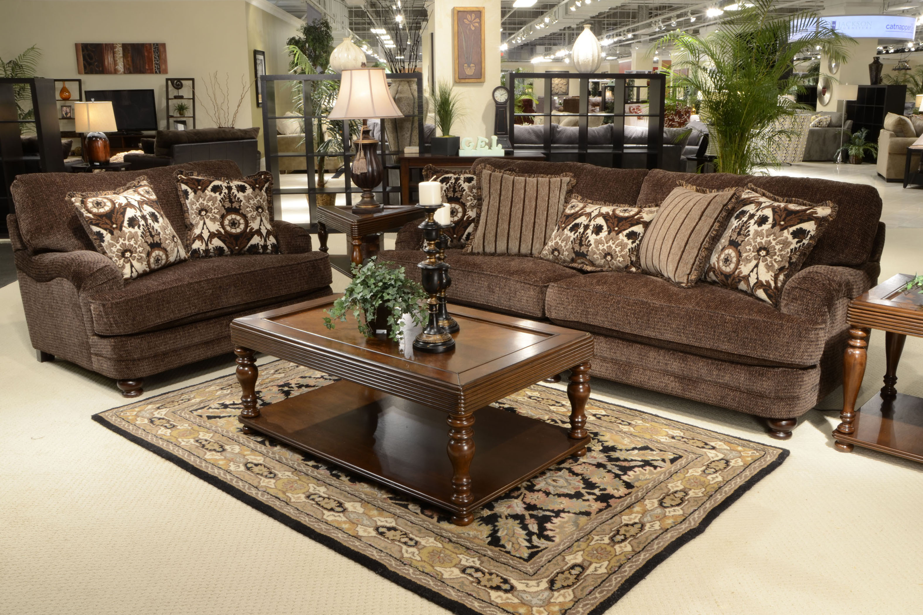 Jackson Furniture Stationary Upholstery Collection Brennan 4438 With Brennan Sofa Chairs (Photo 16 of 20)