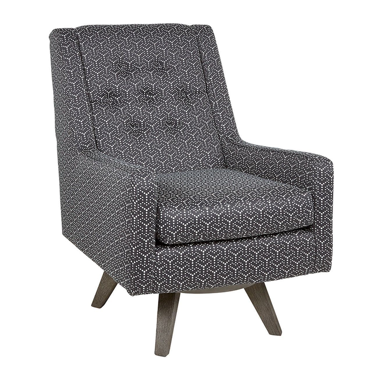 Kale Charcoal Swivel Chair – Woodstock Furniture & Mattress For Charcoal Swivel Chairs (View 4 of 20)