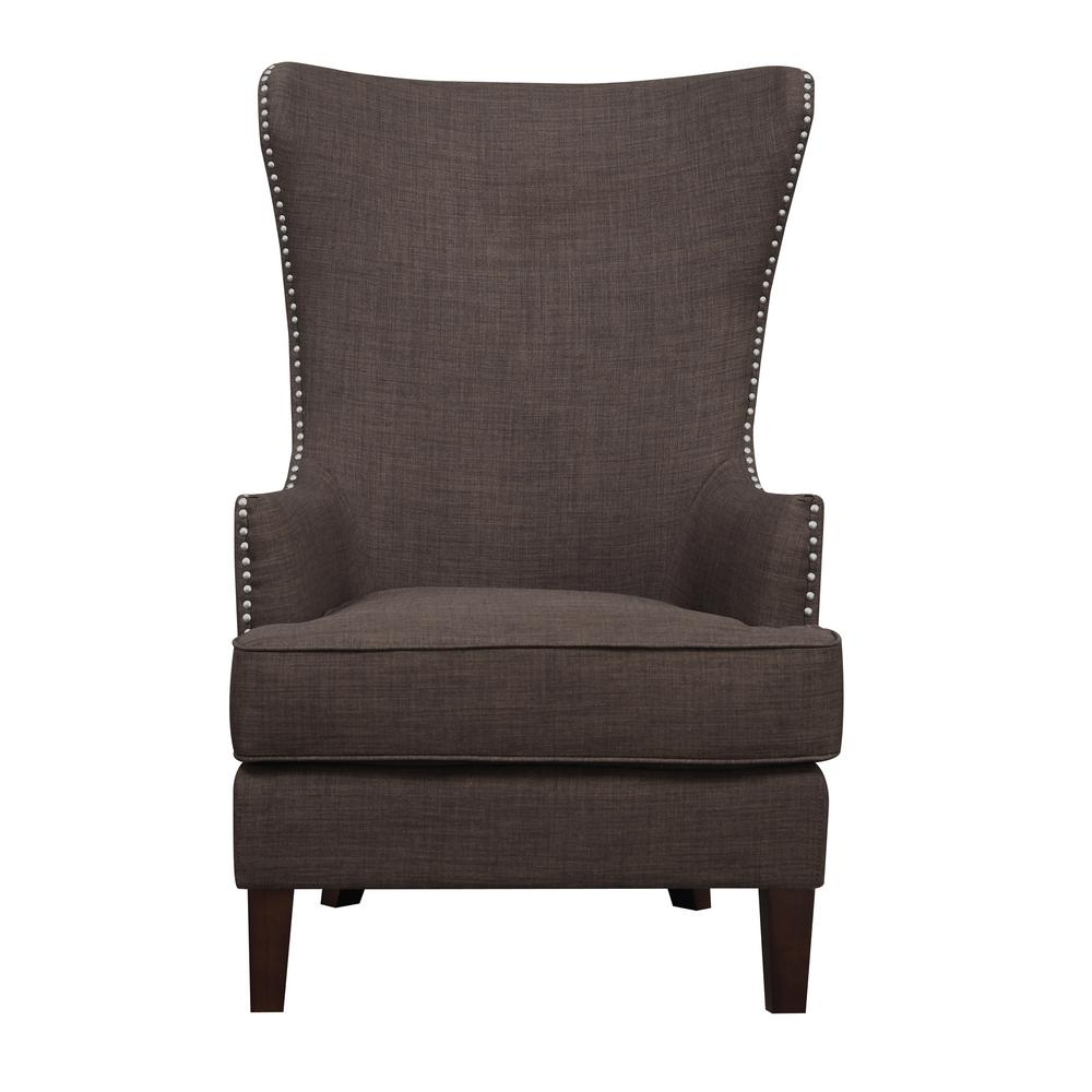 Kegan Chocolate Accent Chair Ukr081100 – The Home Depot For Devon Ii Swivel Accent Chairs (Image 15 of 20)
