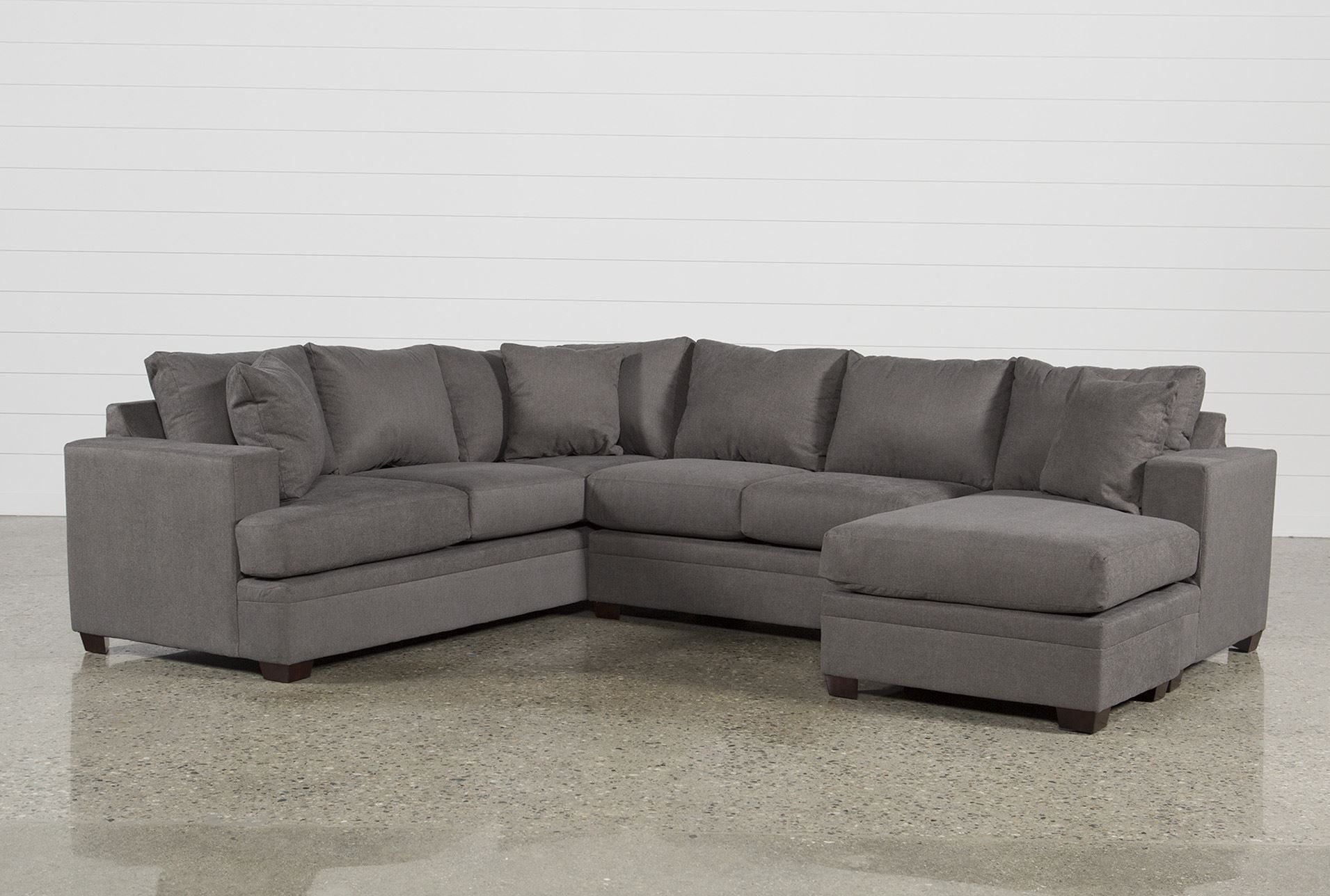 Kerri 2 Piece Sectional W/raf Chaise | Products | Sofa, Living Room Inside Mcdade Graphite Sofa Chairs (Image 10 of 20)