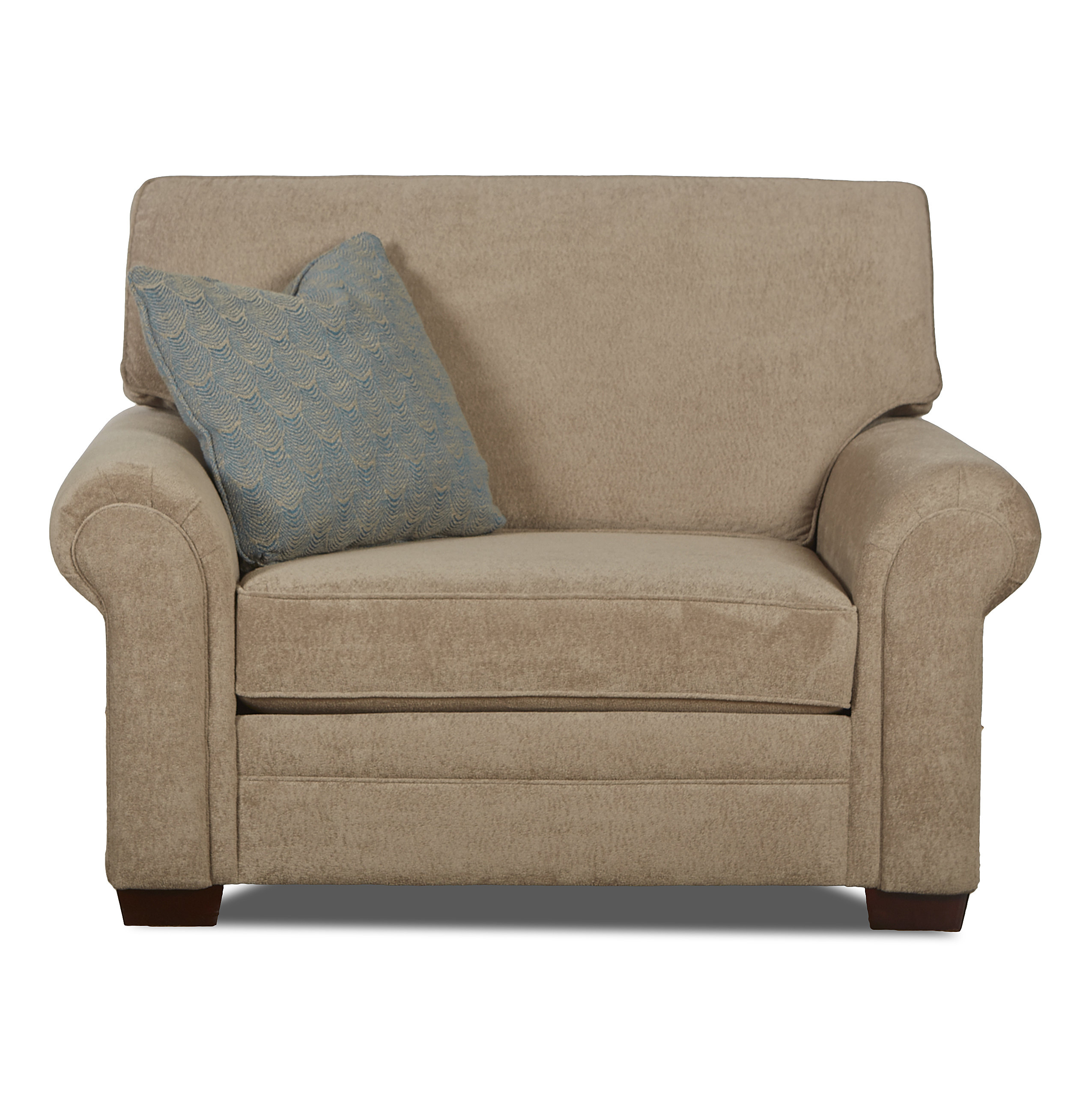 Klaussner Furniture Surrey Chair And A Half | Wayfair With Regard To Bailey Angled Track Arm Swivel Gliders (Image 13 of 20)