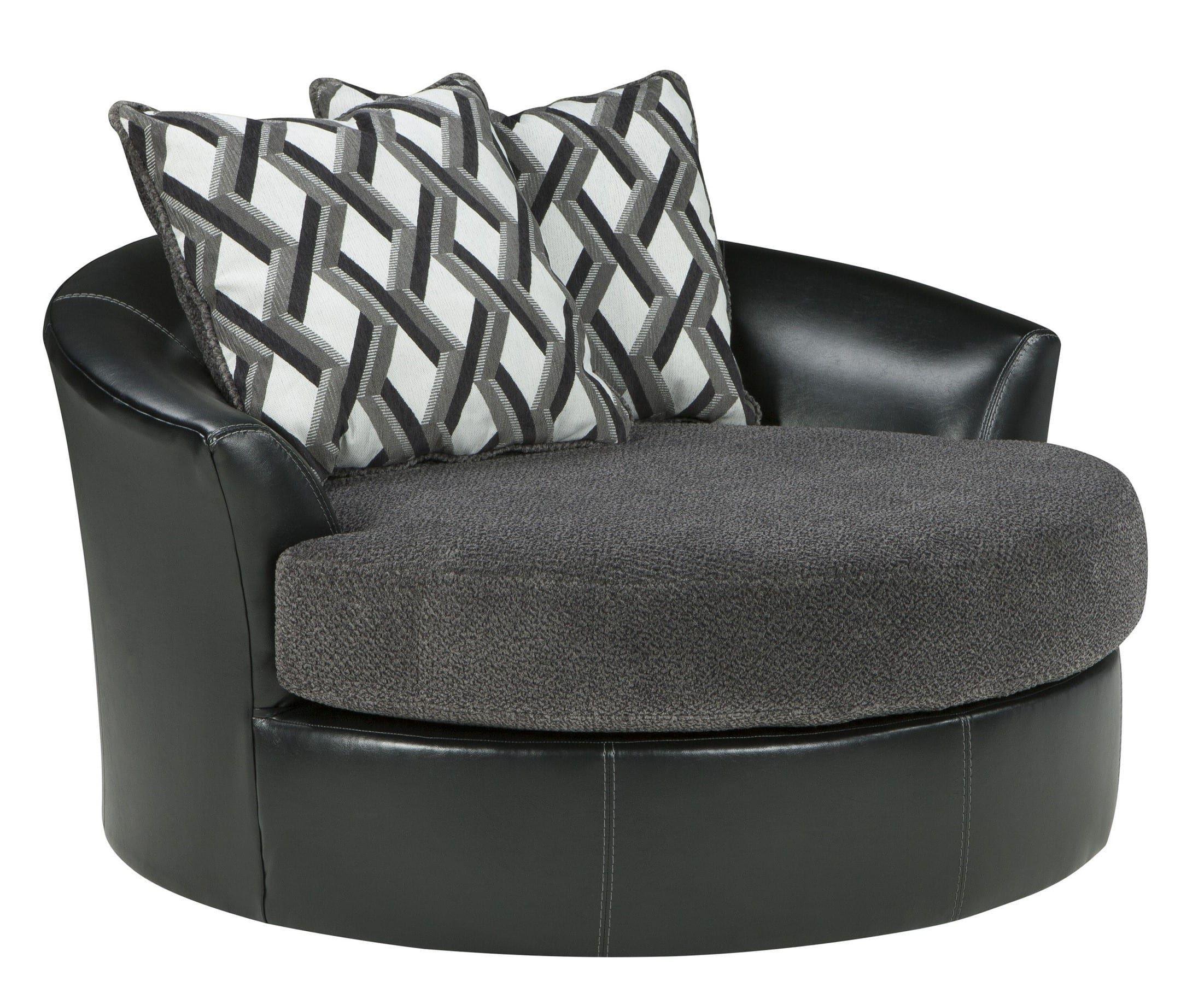 Kumasi Smoke Oversized Swivel Accent Chair | Interior Decorating Within Mesa Foam Oversized Sofa Chairs (Image 11 of 20)