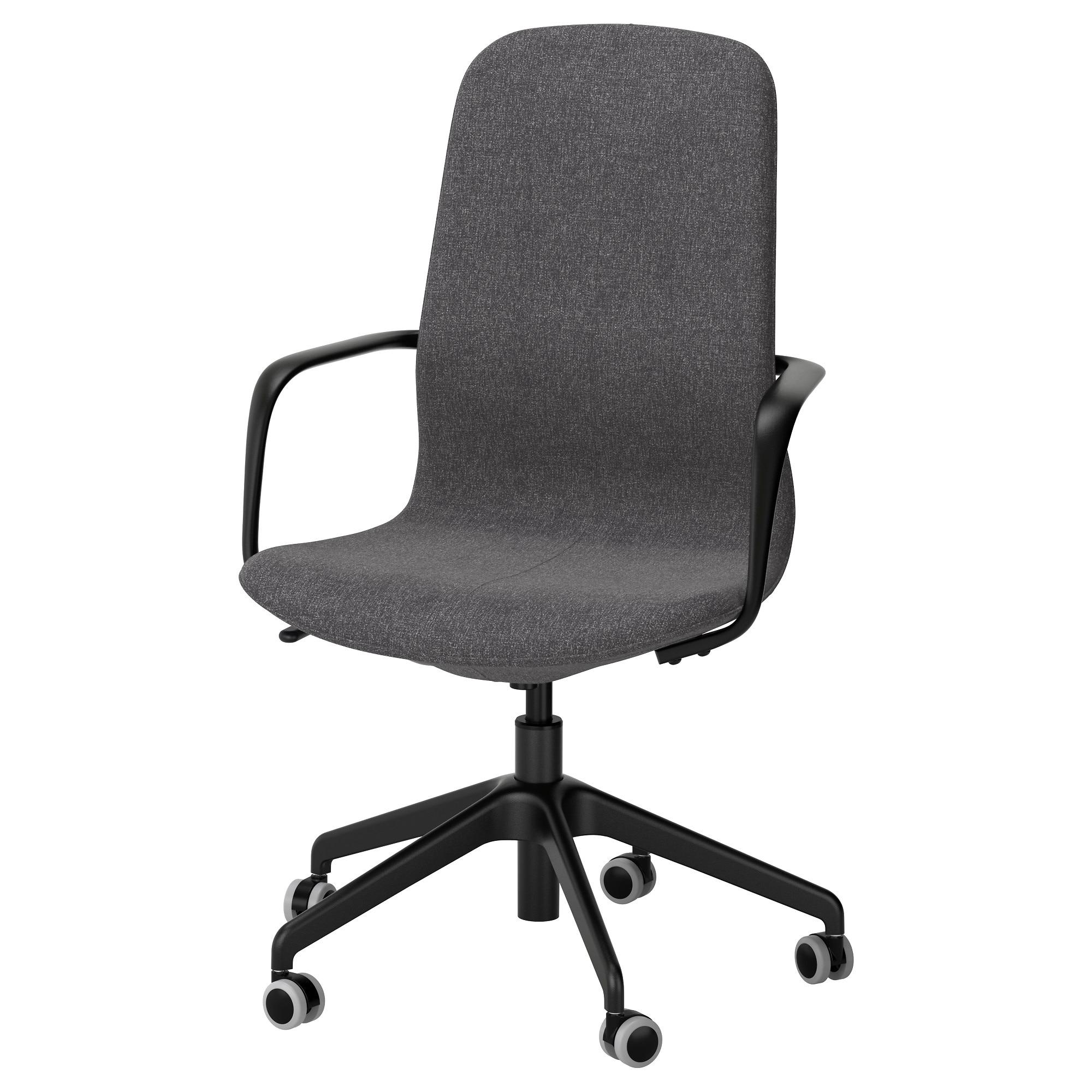 Långfjäll Swivel Chair Gunnared Dark Grey/black – Ikea Intended For Dark Grey Swivel Chairs (Image 13 of 20)