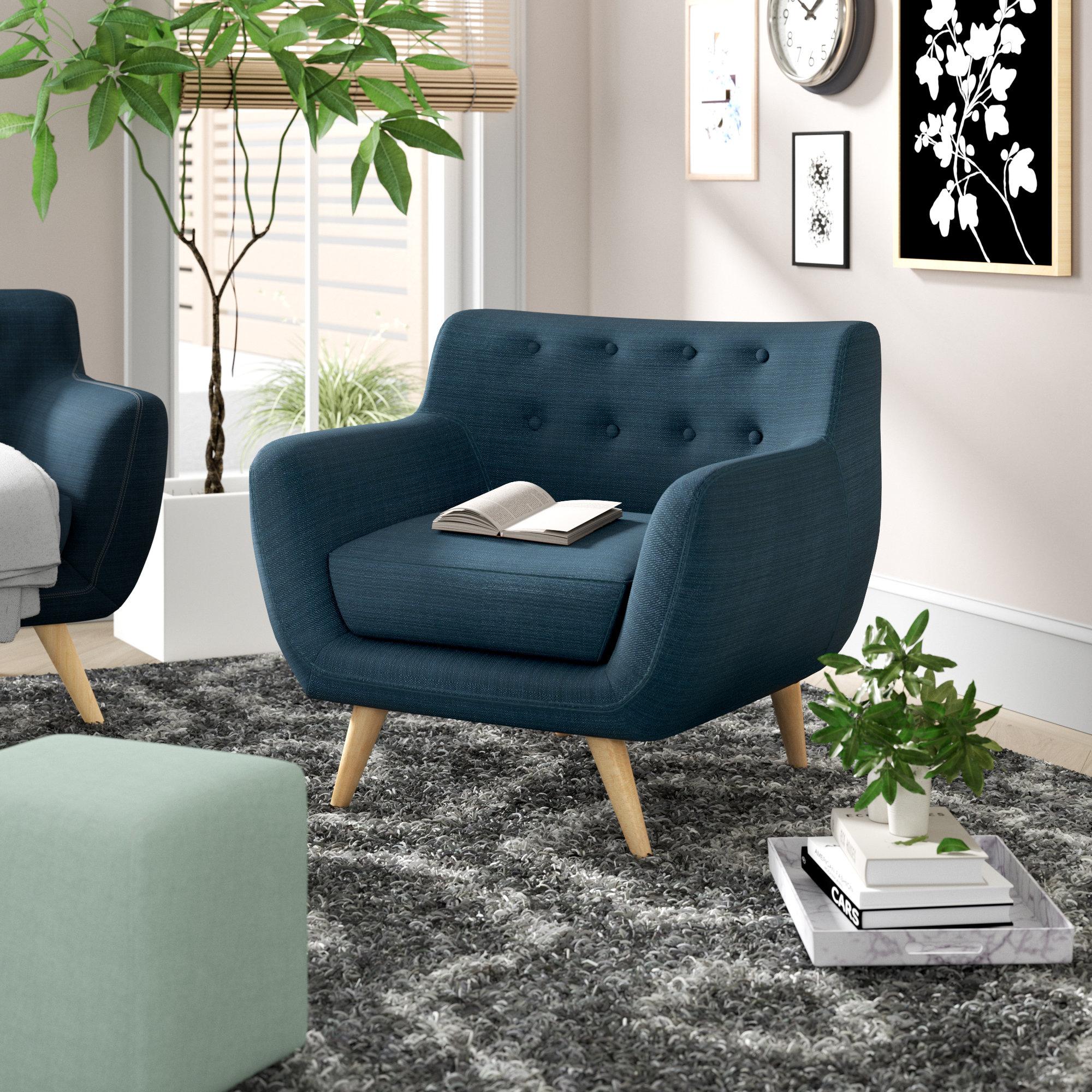 Langley Street Matteo Armchair & Reviews | Wayfair For Matteo Arm Sofa Chairs (Image 5 of 20)