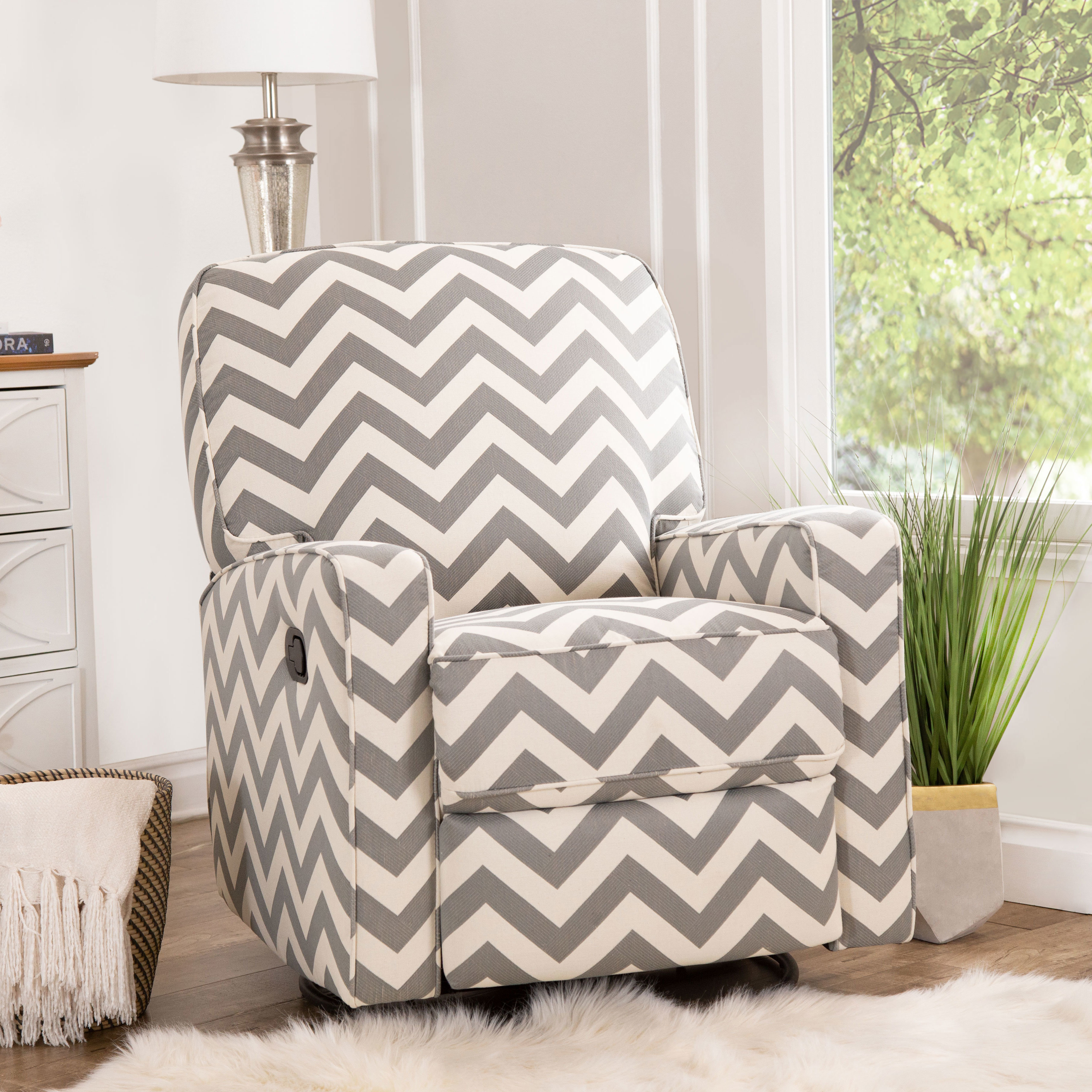 Latitude Run Brittney Swivel Reclining Glider & Reviews | Wayfair In Katrina Grey Swivel Glider Chairs (Image 10 of 20)
