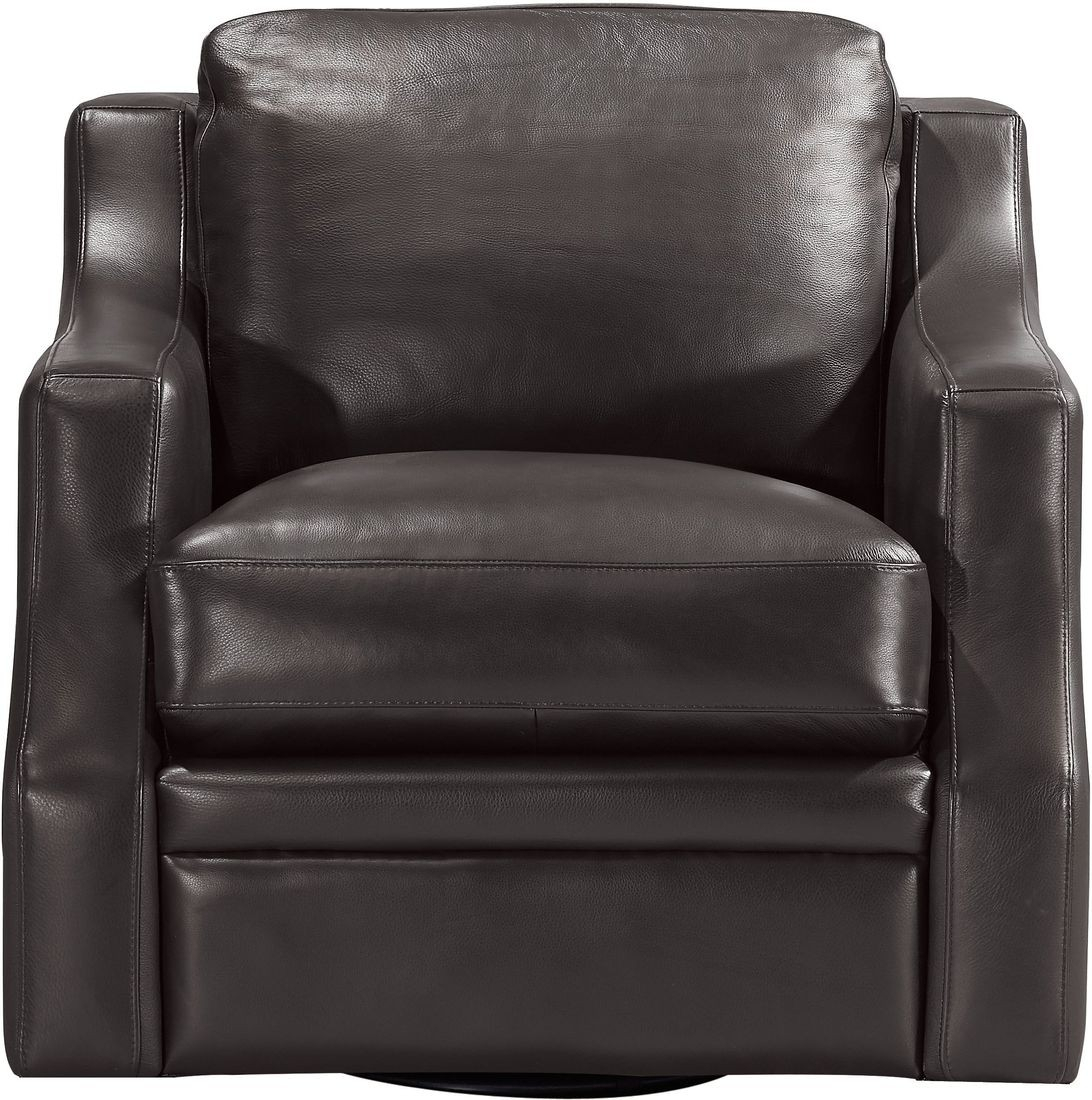 Leather Italia Grandview Swivel Chair In Espresso | Local Furniture In Espresso Leather Swivel Chairs (Photo 4 of 20)