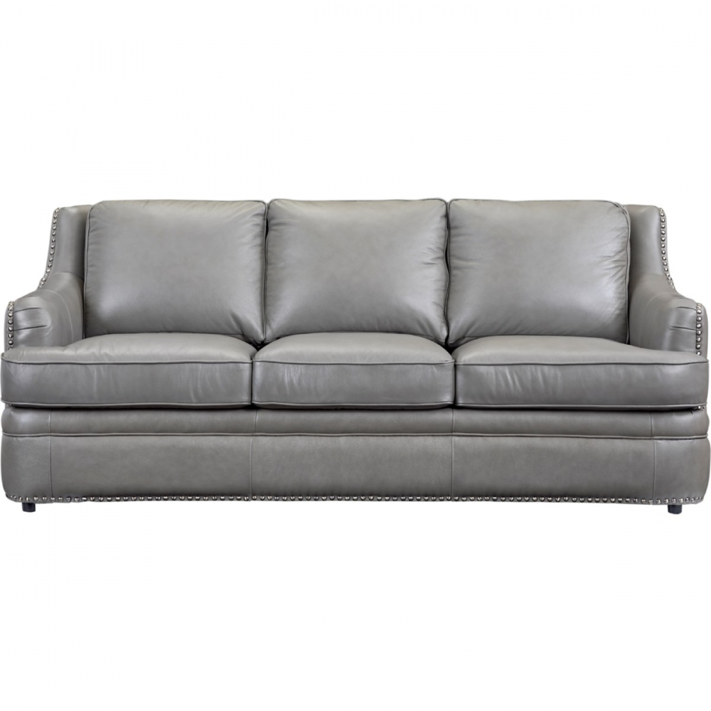 Leather Italia Usa 1444 9013 031812 Tulsa Sofa In Dark Grey Top Throughout Gina Grey Leather Sofa Chairs (Photo 5 of 20)