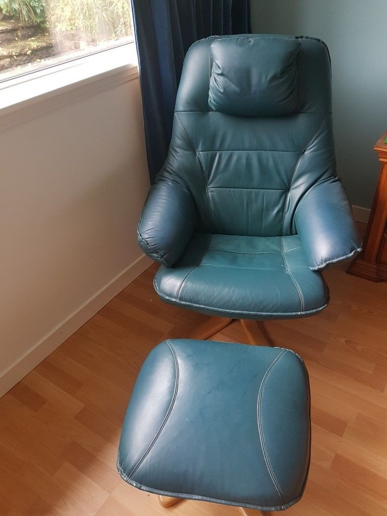 Leather Swivel Chairs N Stools | In Bridge Of Weir, Renfrewshire For Katrina Blue Swivel Glider Chairs (Image 12 of 20)