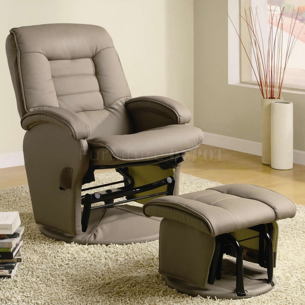 Leather Swivel Glider Chair — Paristriptips Design : Nursery Swivel Intended For Abbey Swivel Glider Recliners (View 11 of 20)