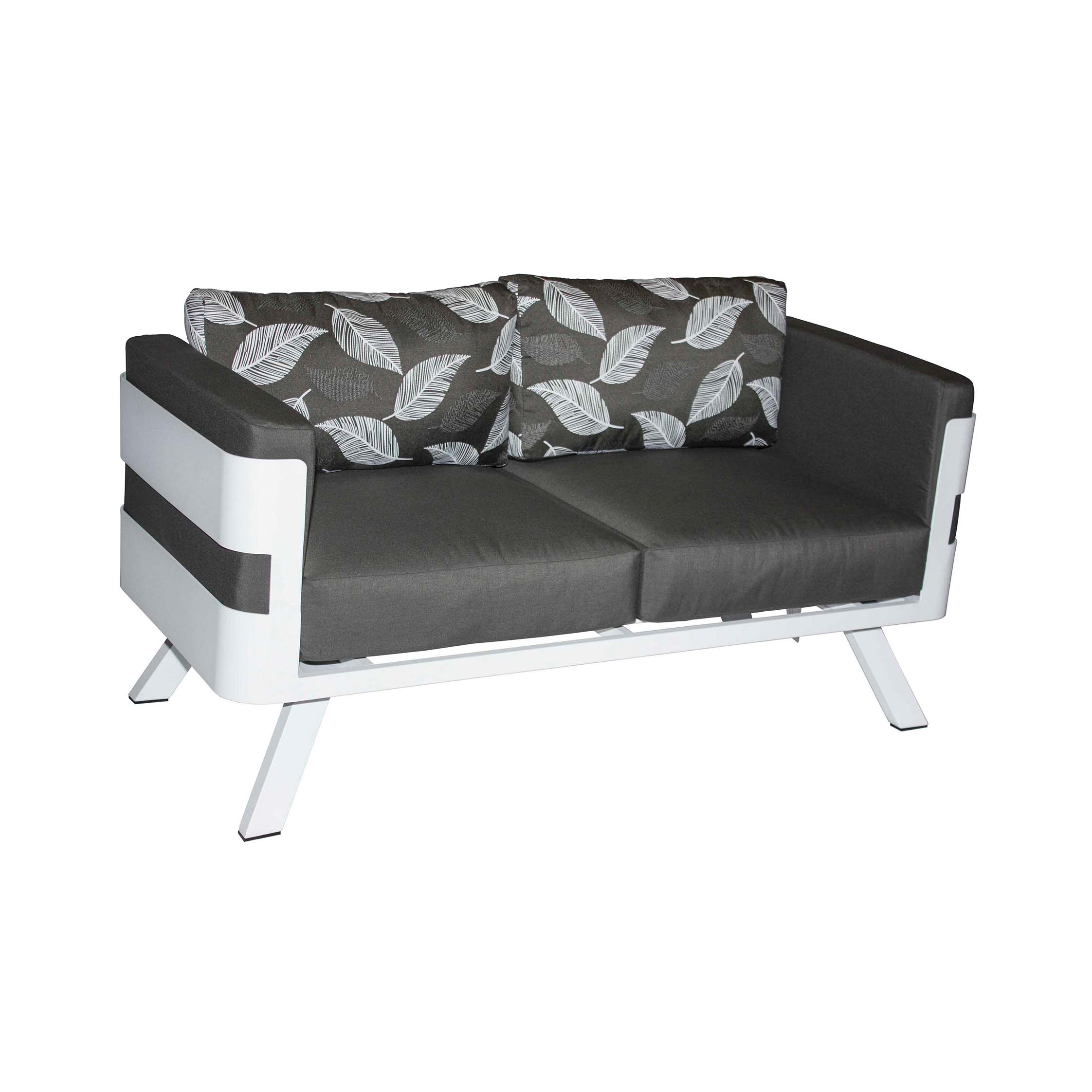 Lesotho 2 Seater Sofa | Patio Warehouse Within Allie Dark Grey Sofa Chairs (Image 12 of 20)