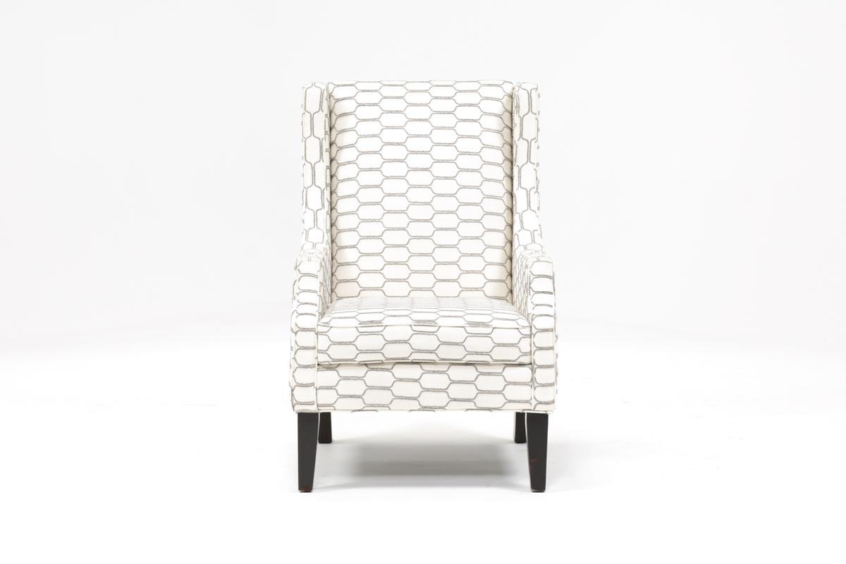 Lewis Zinc Wing Chair | Living Spaces With Regard To Chadwick Gunmetal Swivel Chairs (Image 13 of 20)