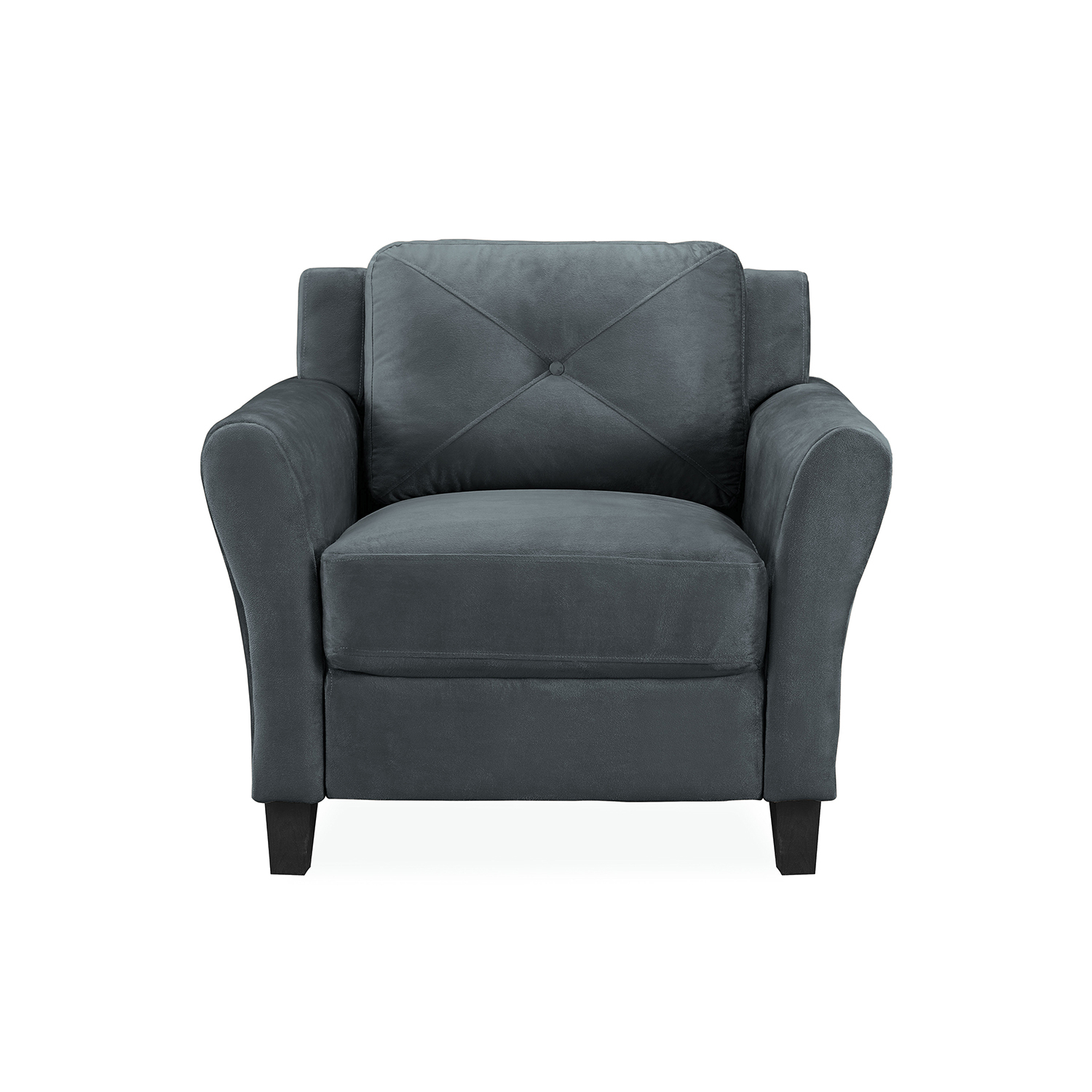 Lifestyle Solutions Harvard Dark Grey Polyester Chair Pertaining To Allie Dark Grey Sofa Chairs (Image 13 of 20)