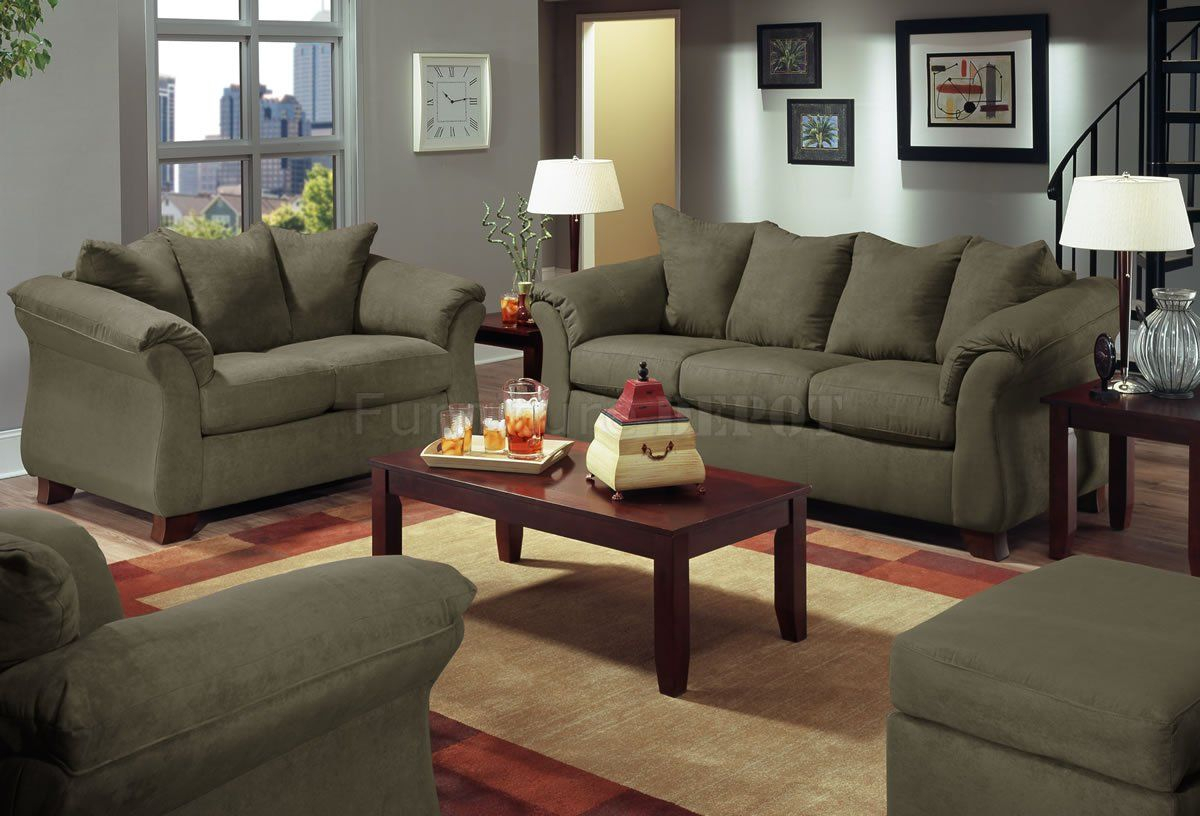 Live Microfiber Modern Sofa & Loveseat Set | Front Room Ideas | Sofa With Regard To Gannon Truffle Power Swivel Recliners (Photo 14 of 20)