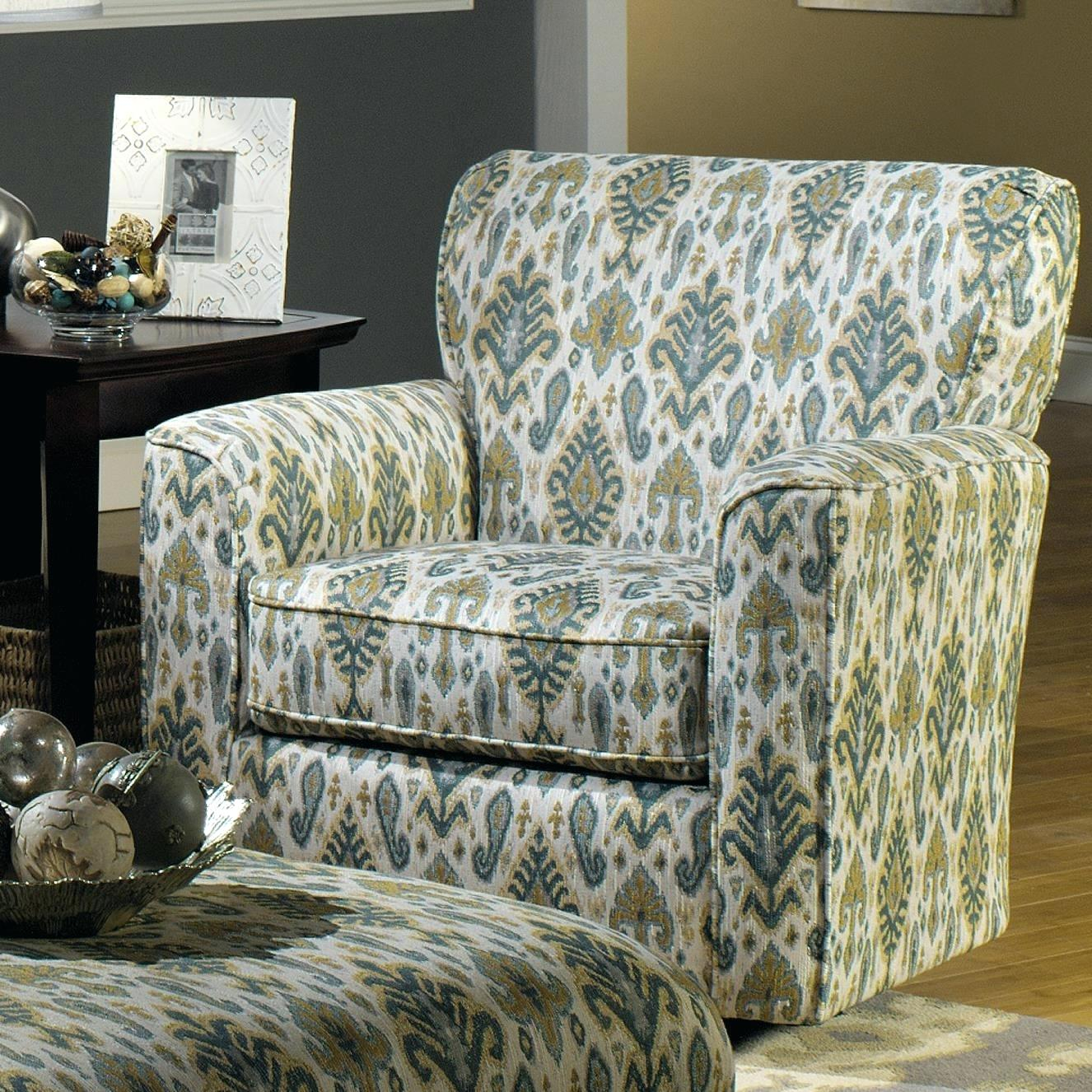 Living Room Accent Chairs With Arms Accent Chairs Upholstered Swivel Intended For Umber Grey Swivel Accent Chairs (Image 15 of 20)