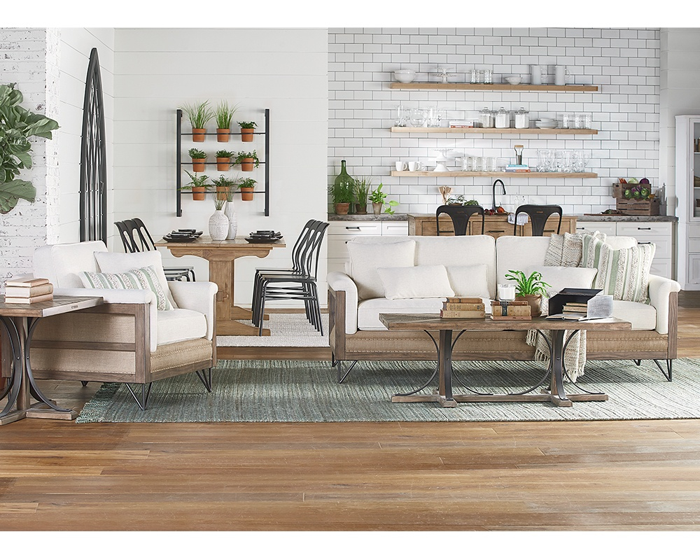 Living Room – Magnolia Home In Magnolia Home Foundation Leather Sofa Chairs (Image 13 of 20)