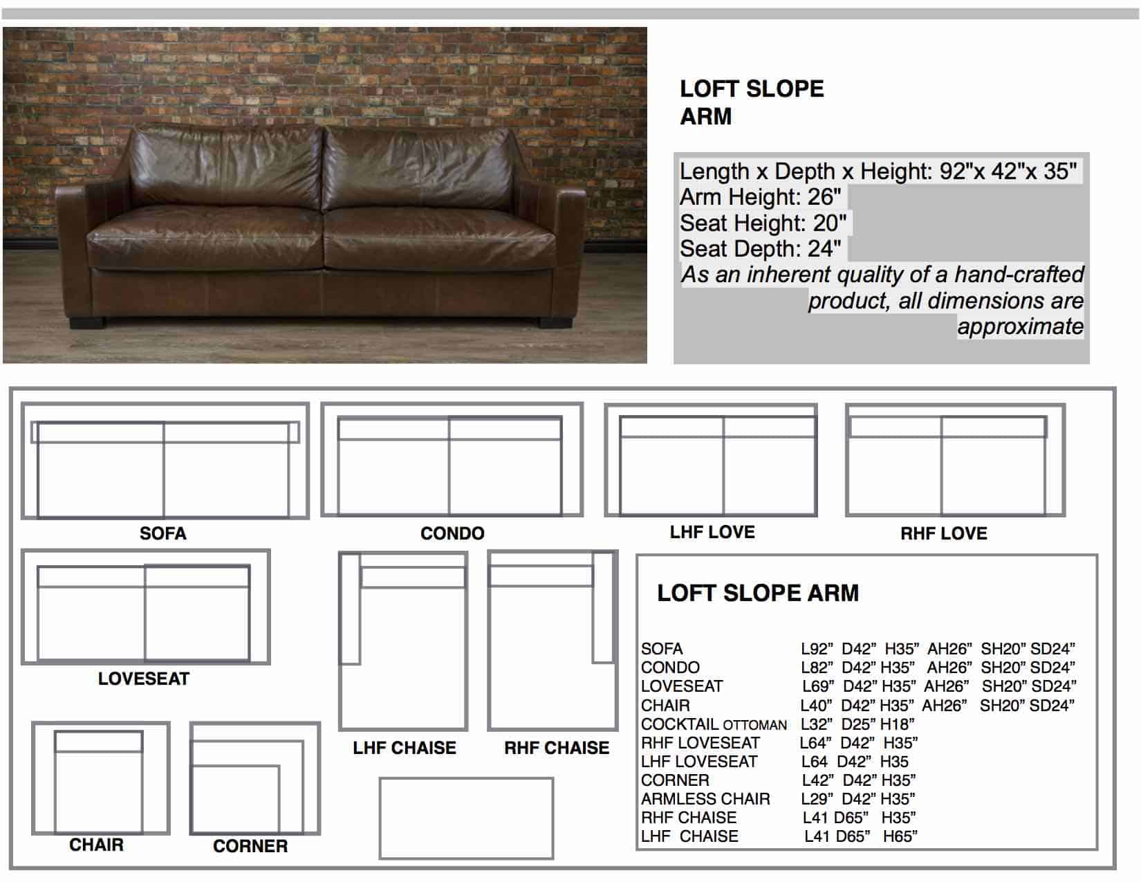 Loft Slope Arm Leather Sofa | Canada's Boss Leather Sofas And Furniture Intended For Loft Arm Sofa Chairs (Photo 11 of 20)