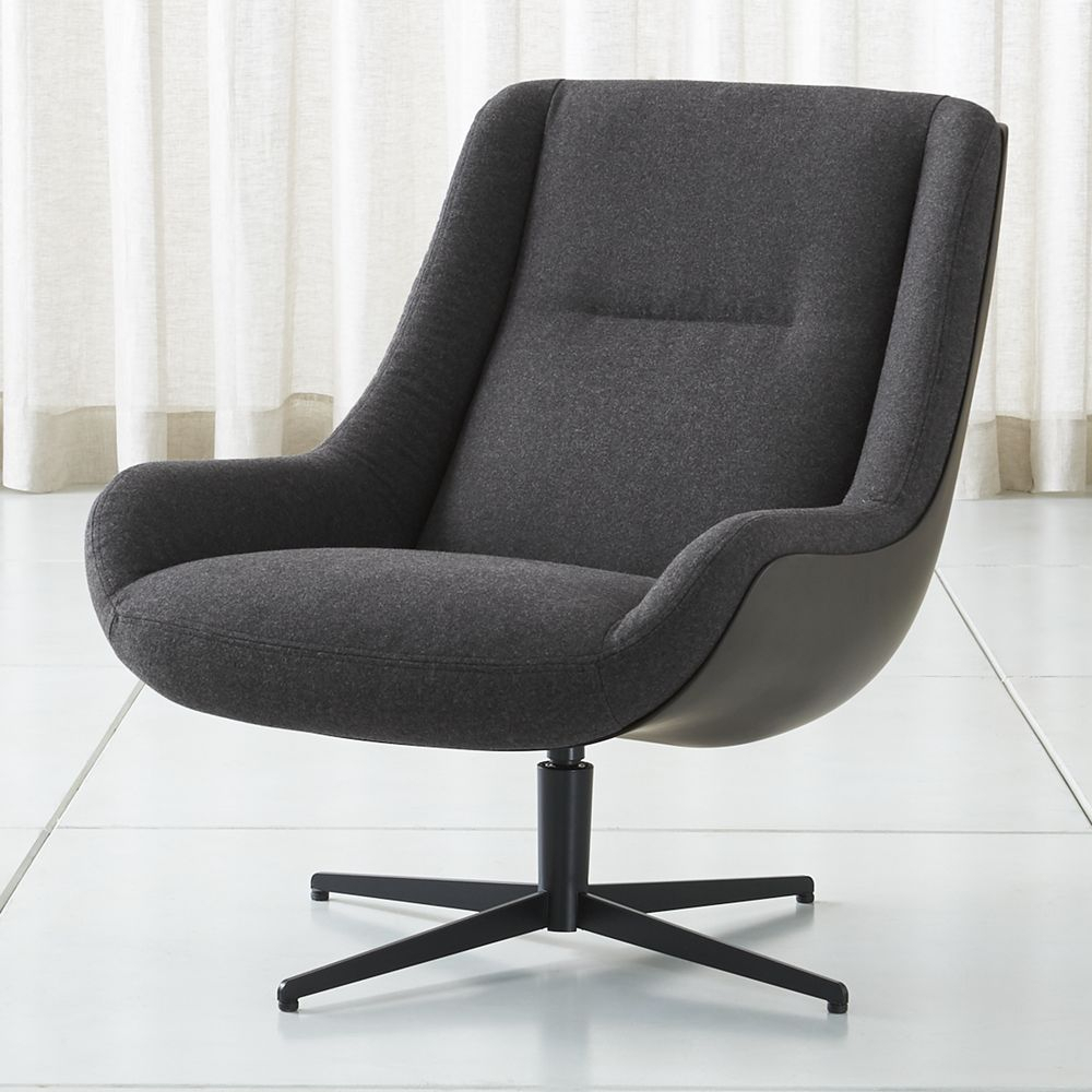 Lovebird Charcoal Swivel Chair In 2018 | Products | Pinterest Pertaining To Charcoal Swivel Chairs (View 13 of 20)